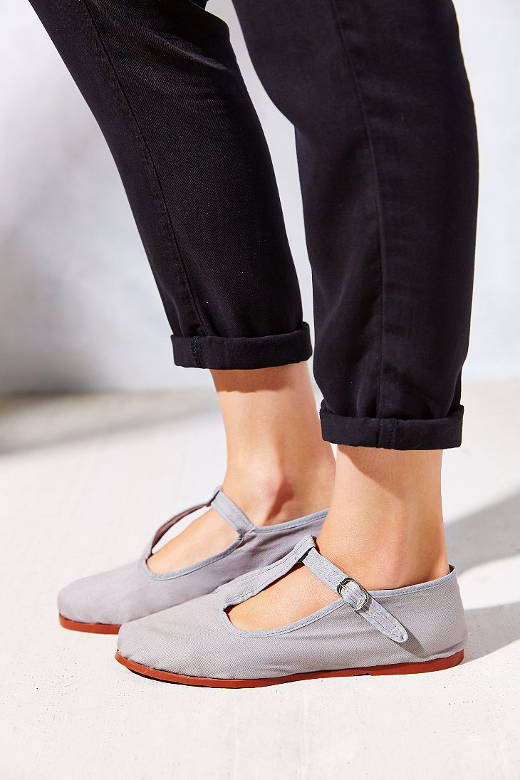 Lyst - Urban Outfitters T-strap Mary Jane in Gray
