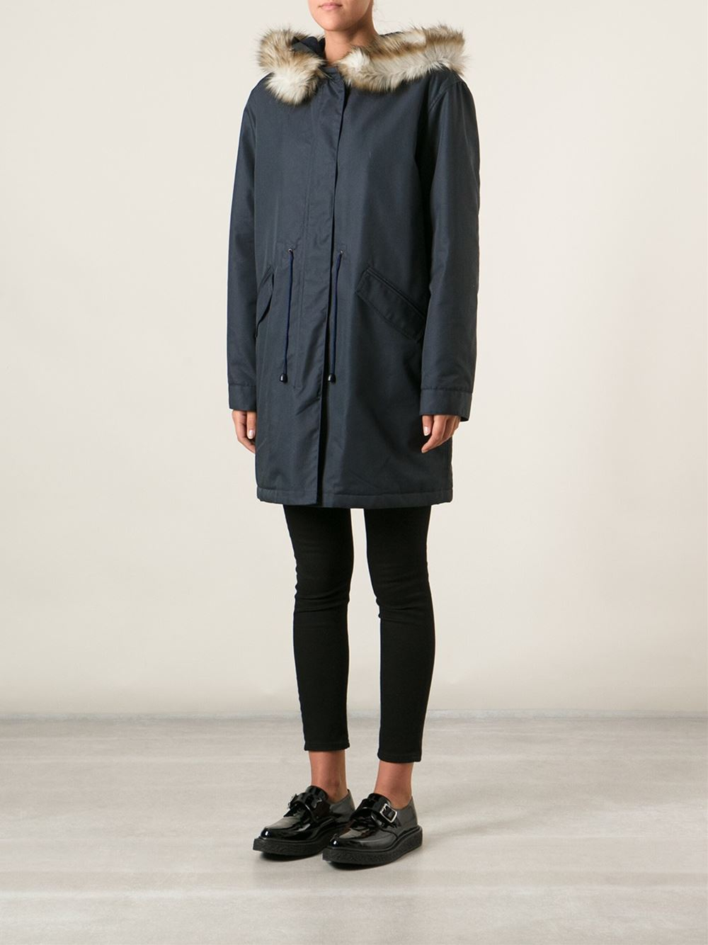 A.p.c. 'Mod' Parka in Blue | Lyst