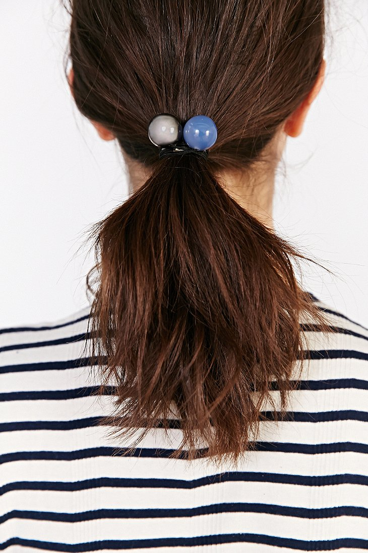 Lyst - Urban Outfitters Maya S Marble Ponytail Holder in Blue 574d8c1bb37