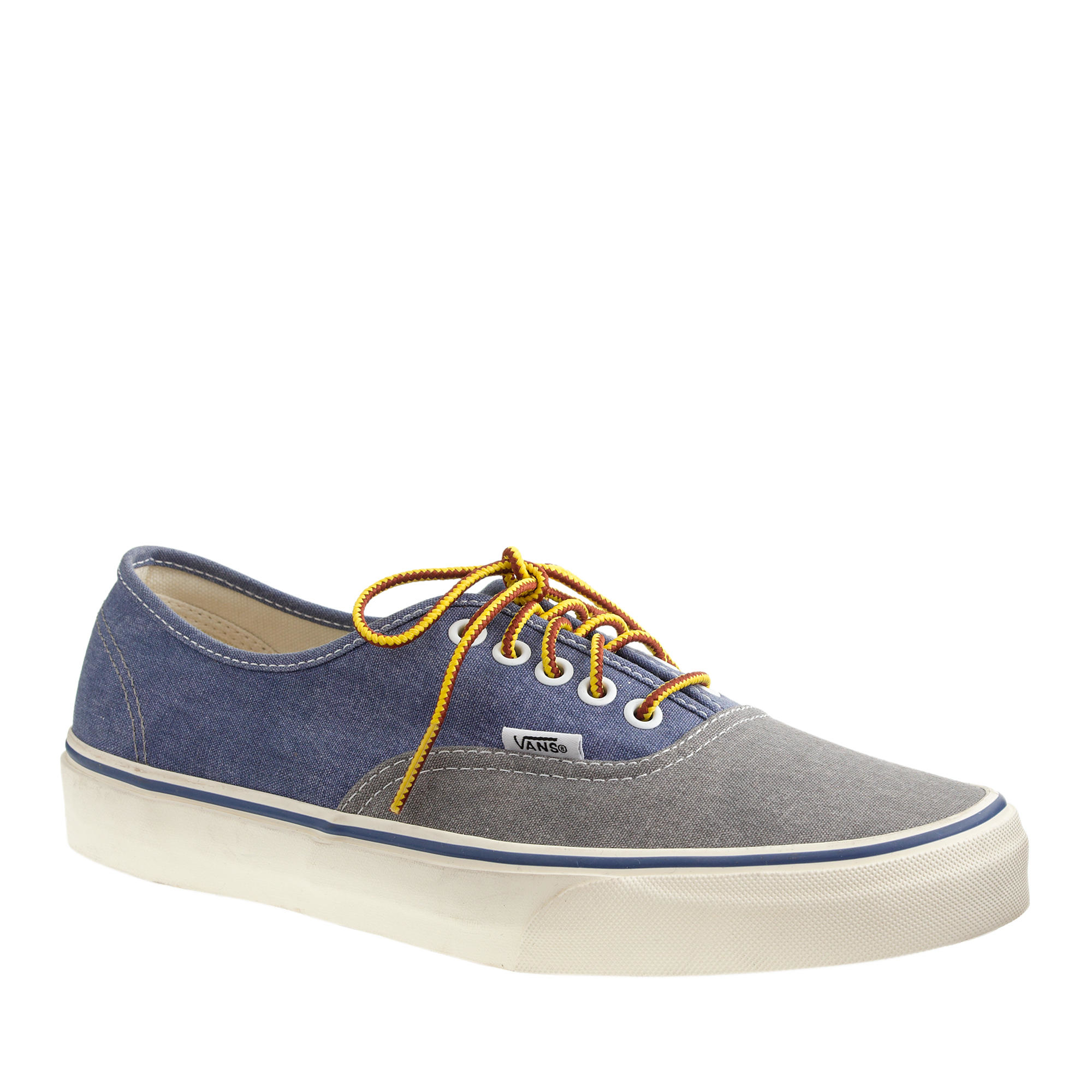 3337150e8b Lyst - J.Crew Men s Vans Washed Canvas Authentic Sneakers In Two ...