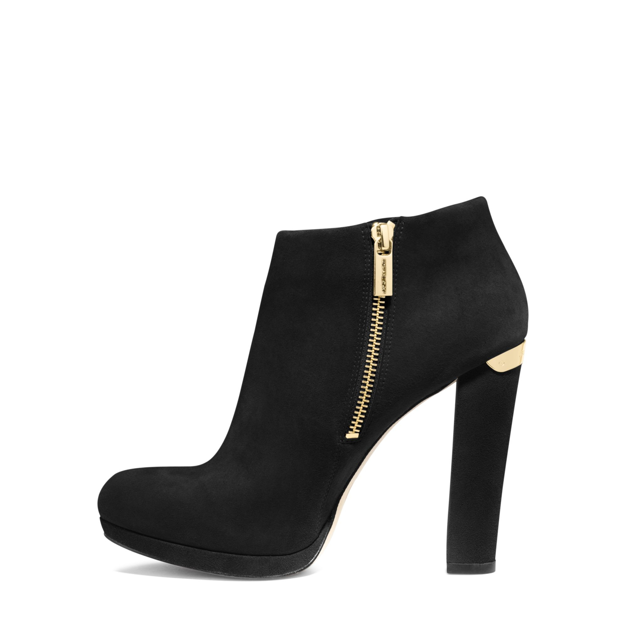 michael kors suede ankle boot in black lyst