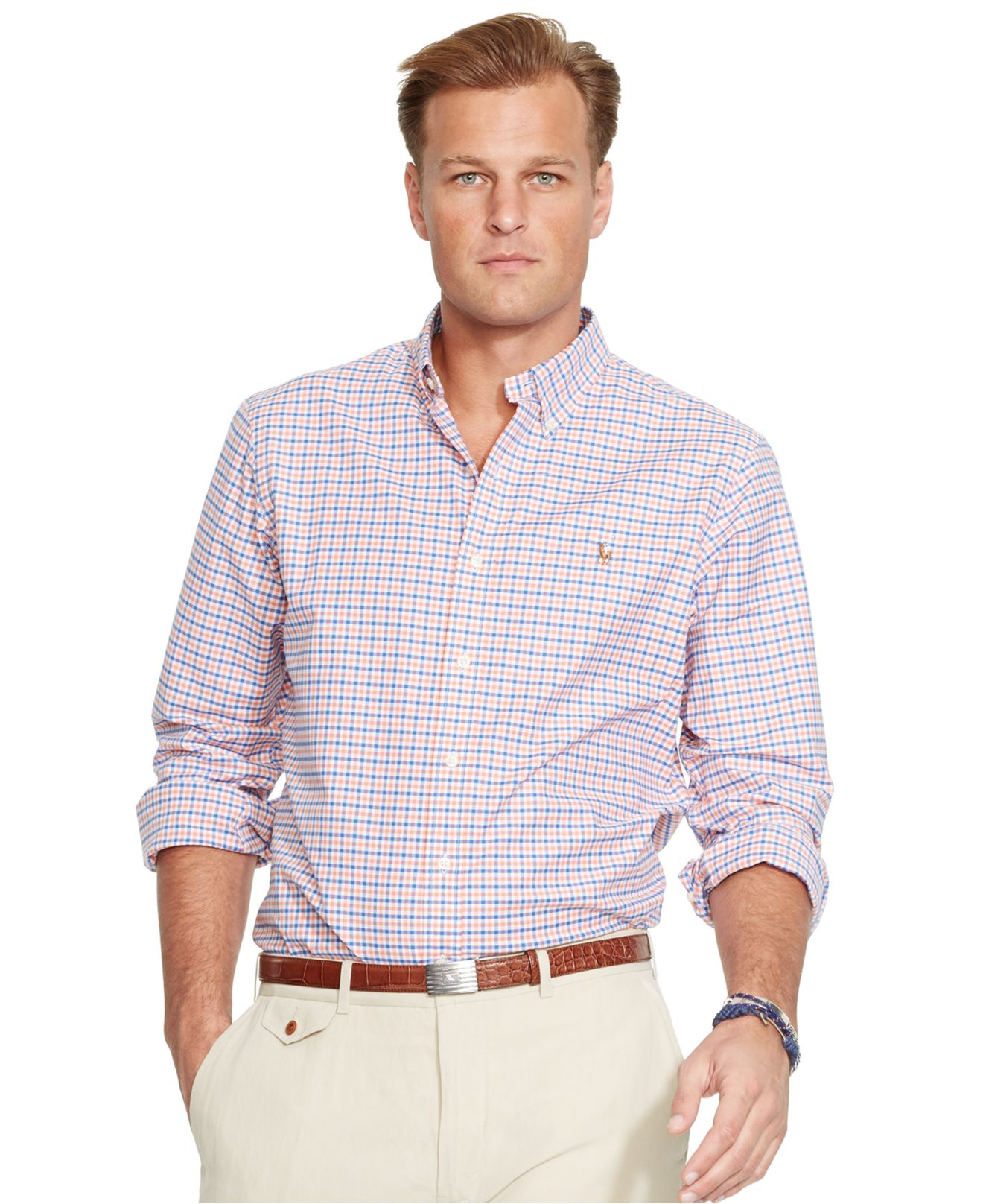 Polo ralph lauren big and tall classic fit oxford shirt in for Big and tall oxford shirts