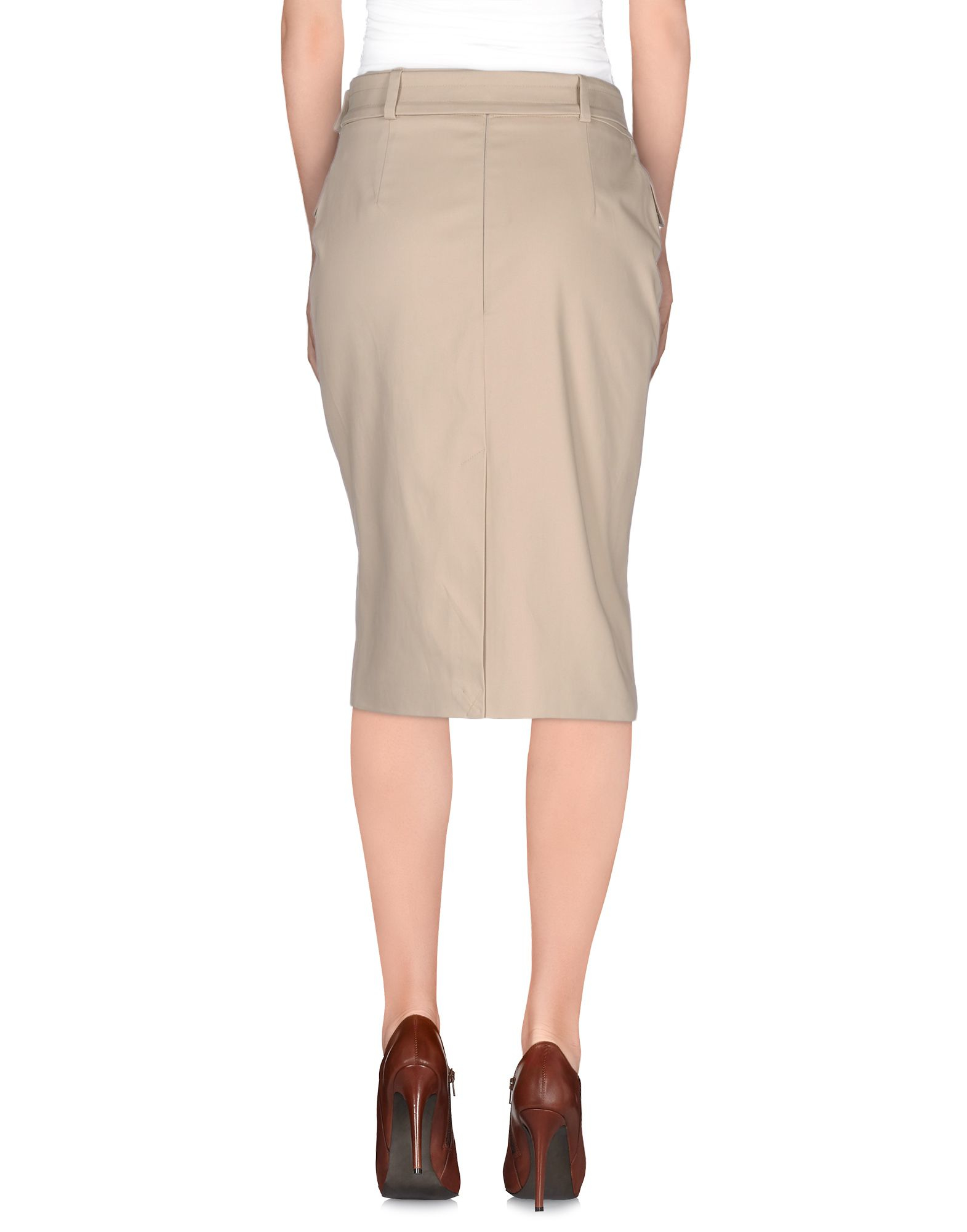 Aquascutum Knee Length Skirt in Natural
