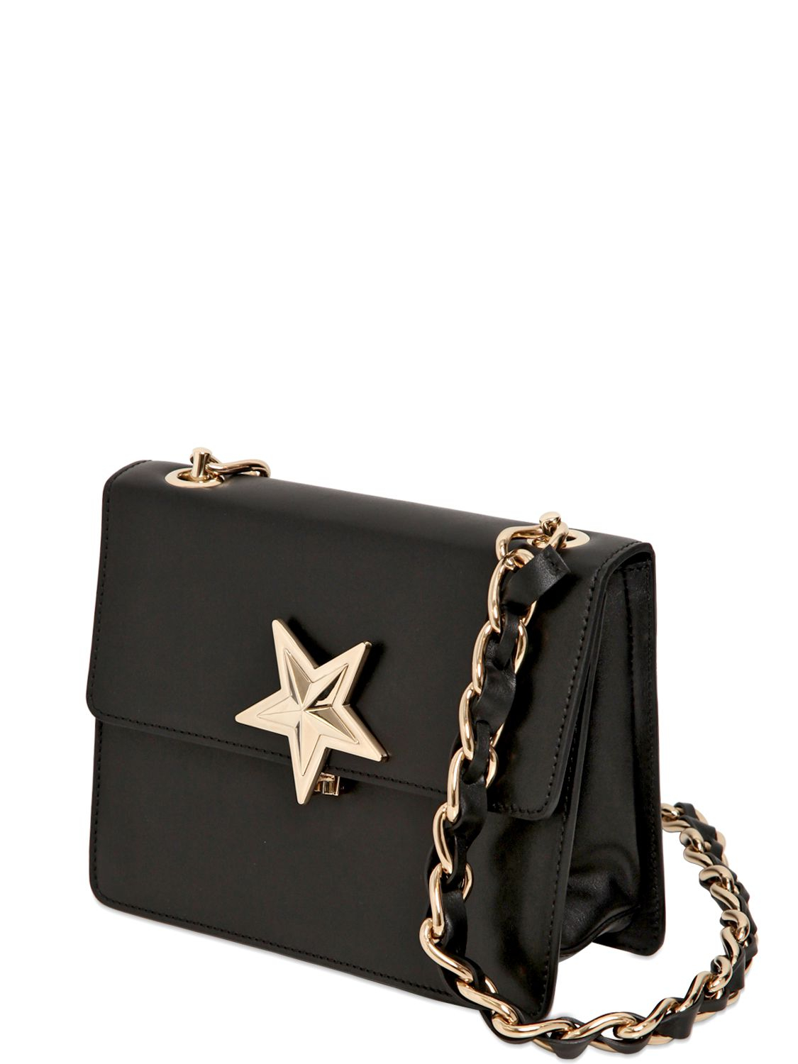9d86f6514fc8 Lyst Red Valentino Leather Star Shoulder Bag In Black