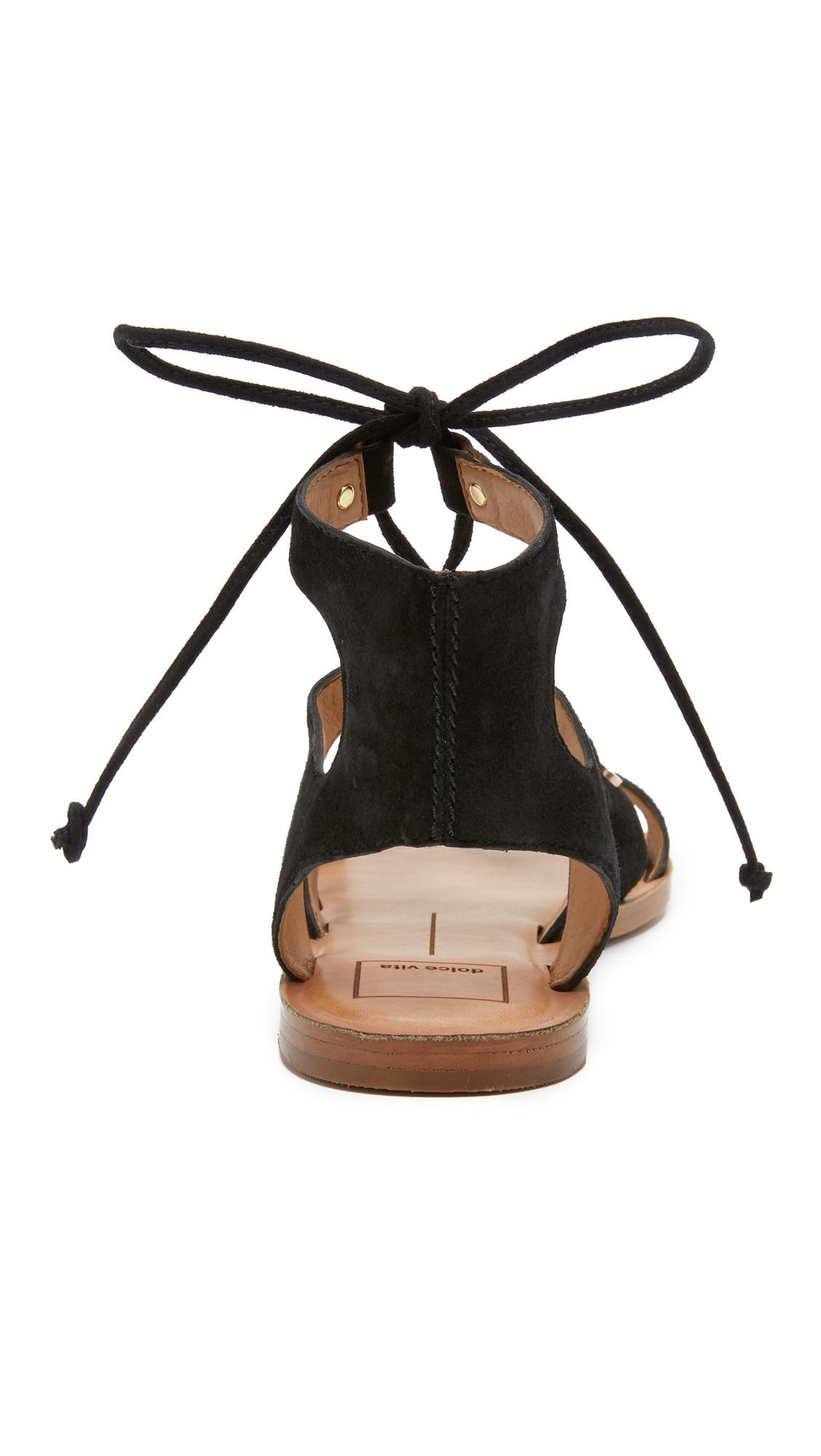 Lyst Dolce Vita Jasmyn Suede Gladiator Sandals In Black
