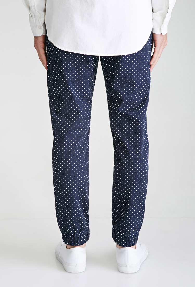 polka dot pants forever 21 polka dot in blue for lyst 30737