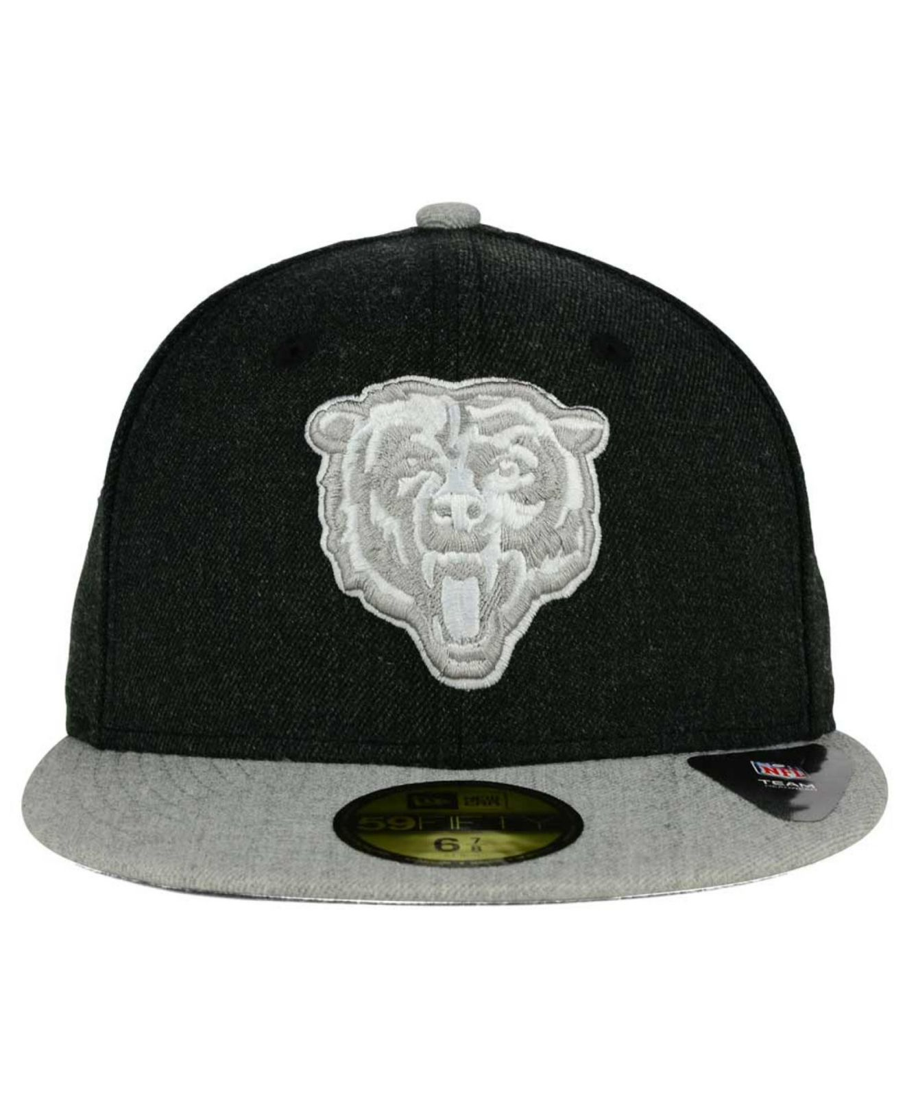 Lyst - Ktz Chicago Bears Heather Action 2-tone 59fifty Cap in Black ... c98b9abf2