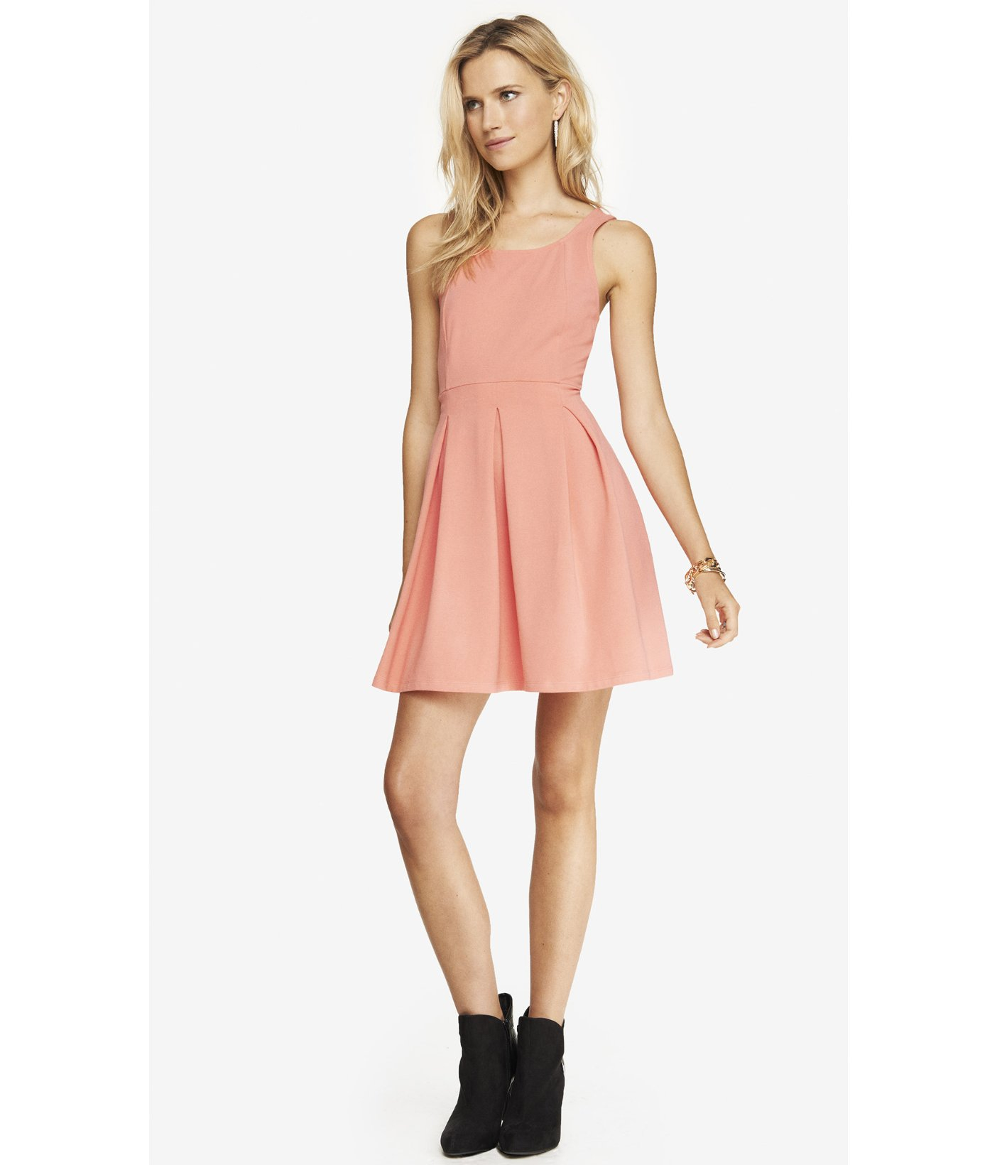 9912bad6e2 Express bright pink crisscross back skater dress product normal jpg  1404x1640 Bright skater dress