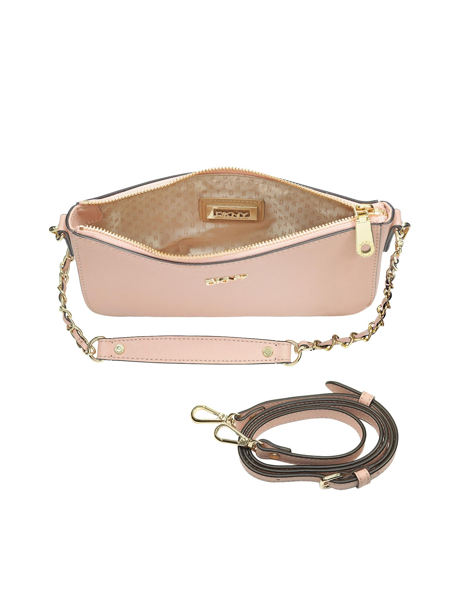 Dkny Bryant Park Blush Saffiano Leather Crossbody Bag In
