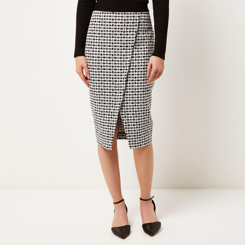 Wrap Pencil Skirt - Skirts