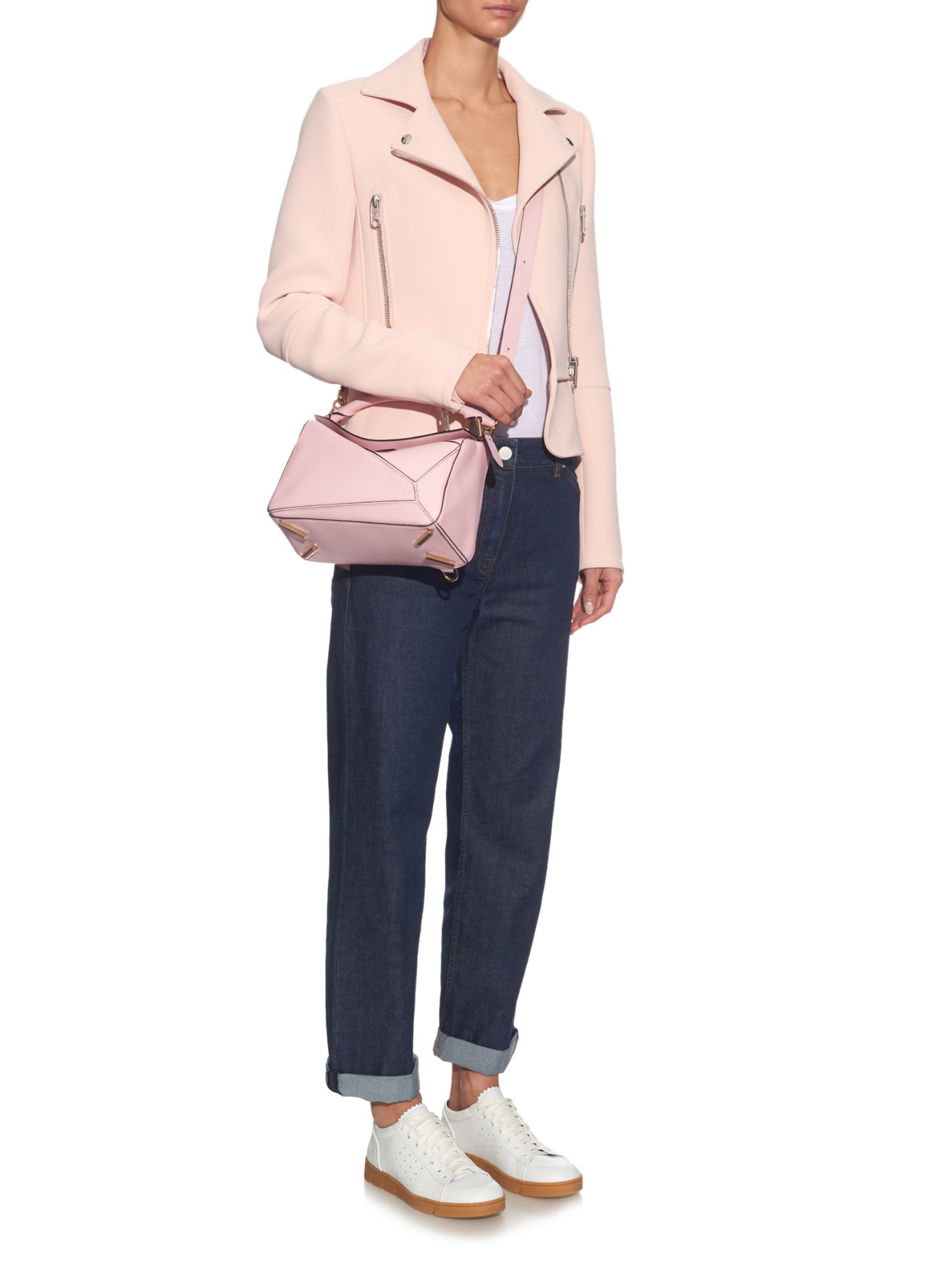 Lyst Loewe Puzzle Small Leather Bag In Pink