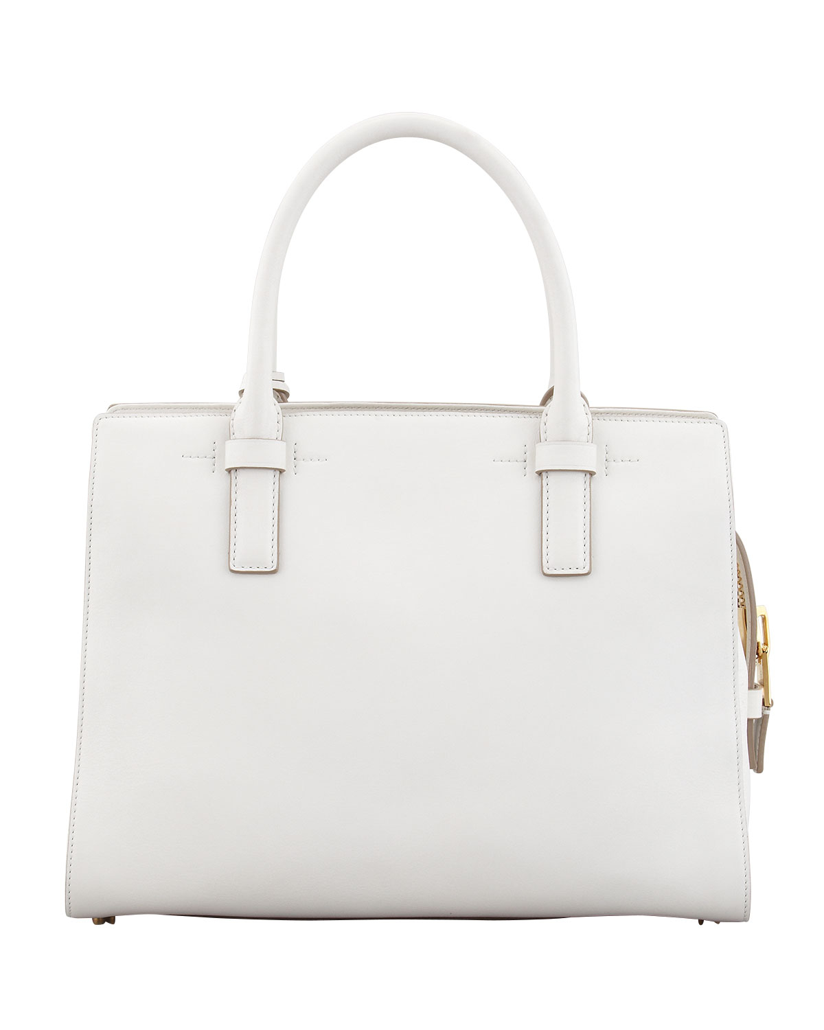 Tom ford Charlotte Small Leather Tote Bag in White | Lyst