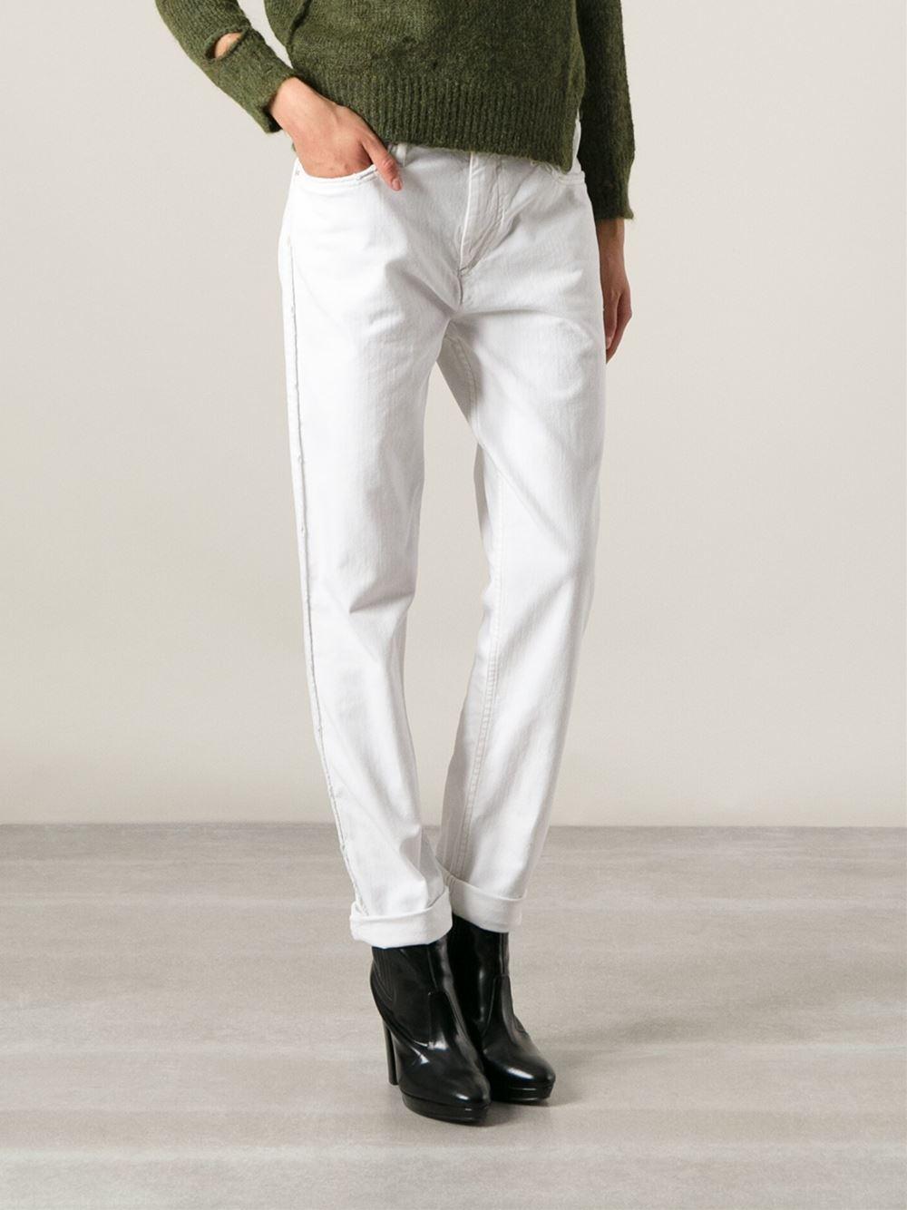 Étoile isabel marant Straight Leg Jeans in White | Lyst