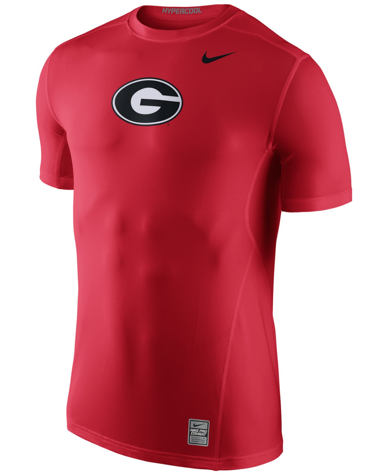 Lyst Nike Men 39 S Georgia Bulldogs Hypercool T Shirt In