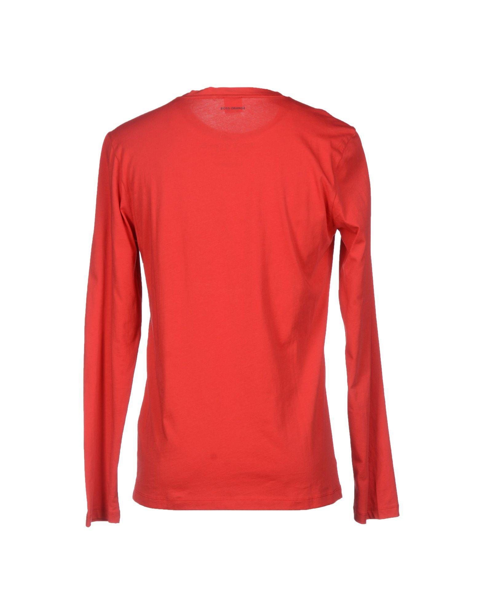 Boss Orange T Shirt In Red For Men Lyst