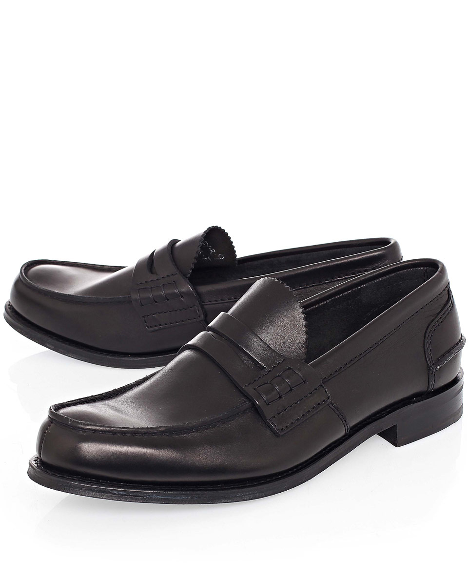 4e8aecbe500 Lyst - Church s Black Pembrey Leather Penny Loafers in Black for Men