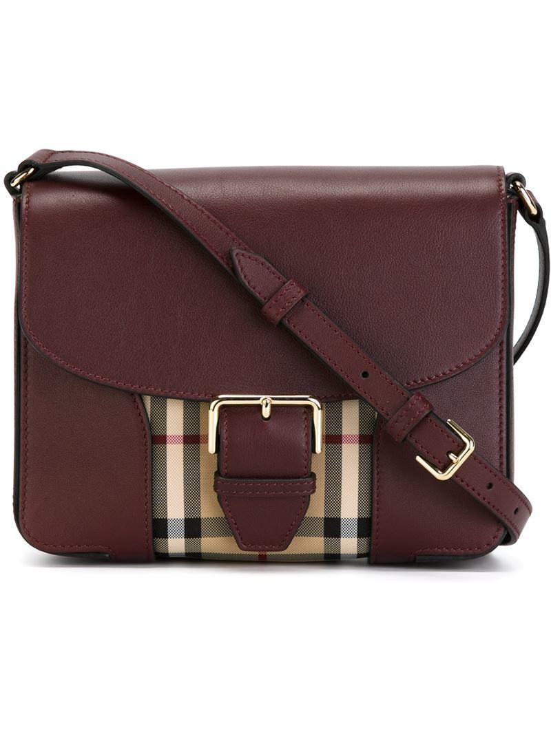 6eeb9e63439b Keeping Burberry Small Bags   Lyst burberry small horseferry check  crossbody bag