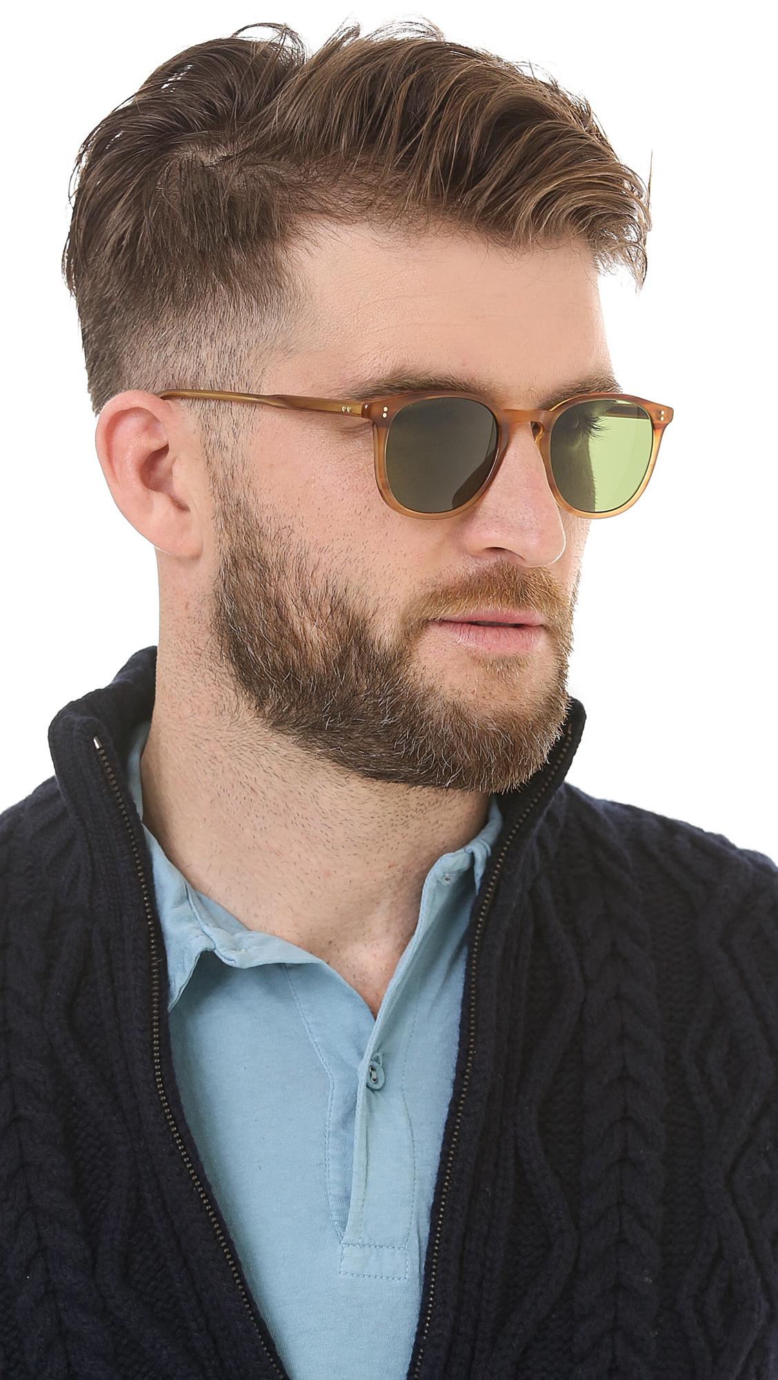 garrett leight kinney sunglasses in brown for men lyst
