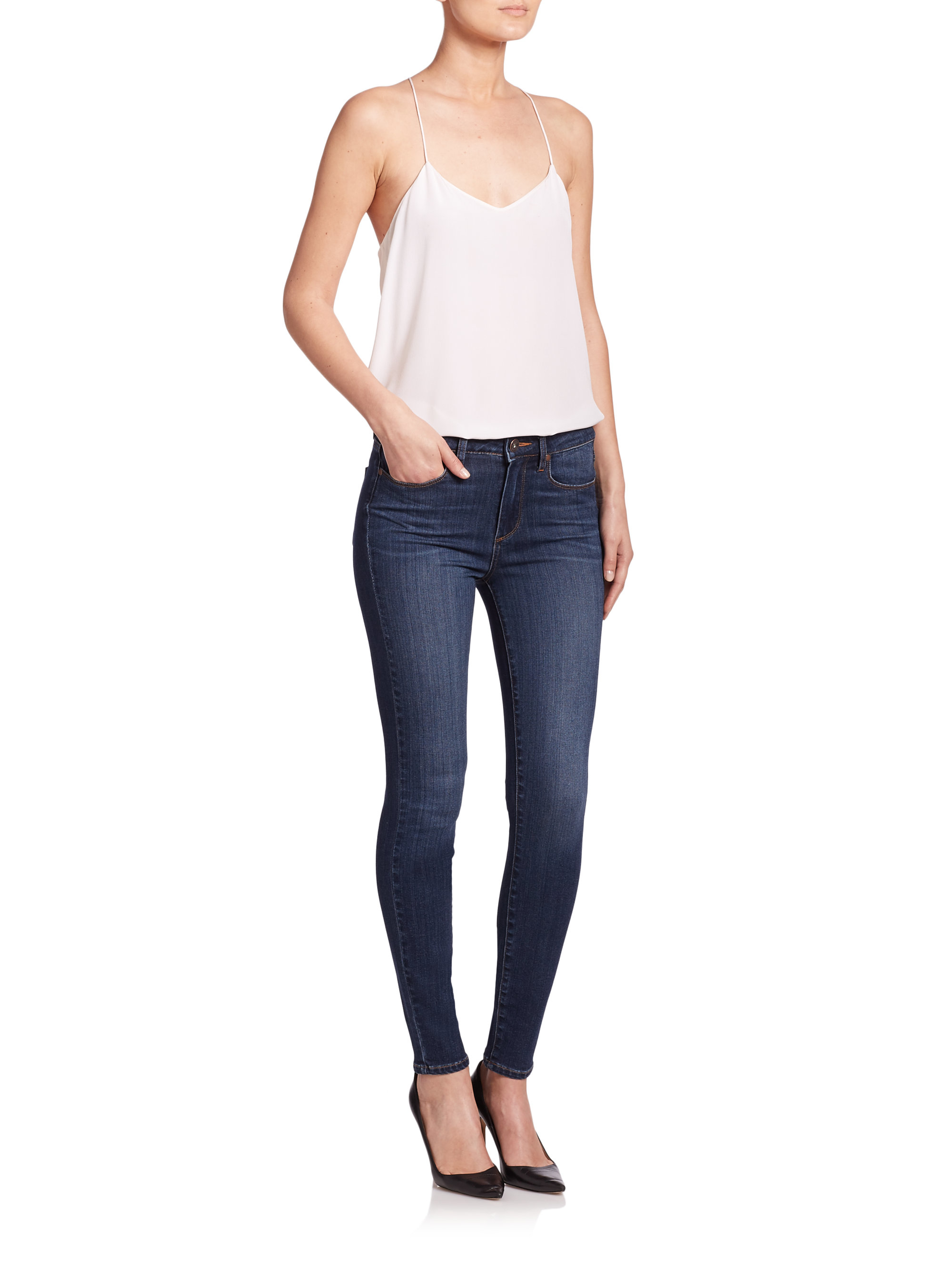 Clearance Really Paige Hoxtin high waist skinny jeans Free Shipping Countdown Package Collections Sale Online Outlet Store Locations Cheap Footlocker xhxx6WevM