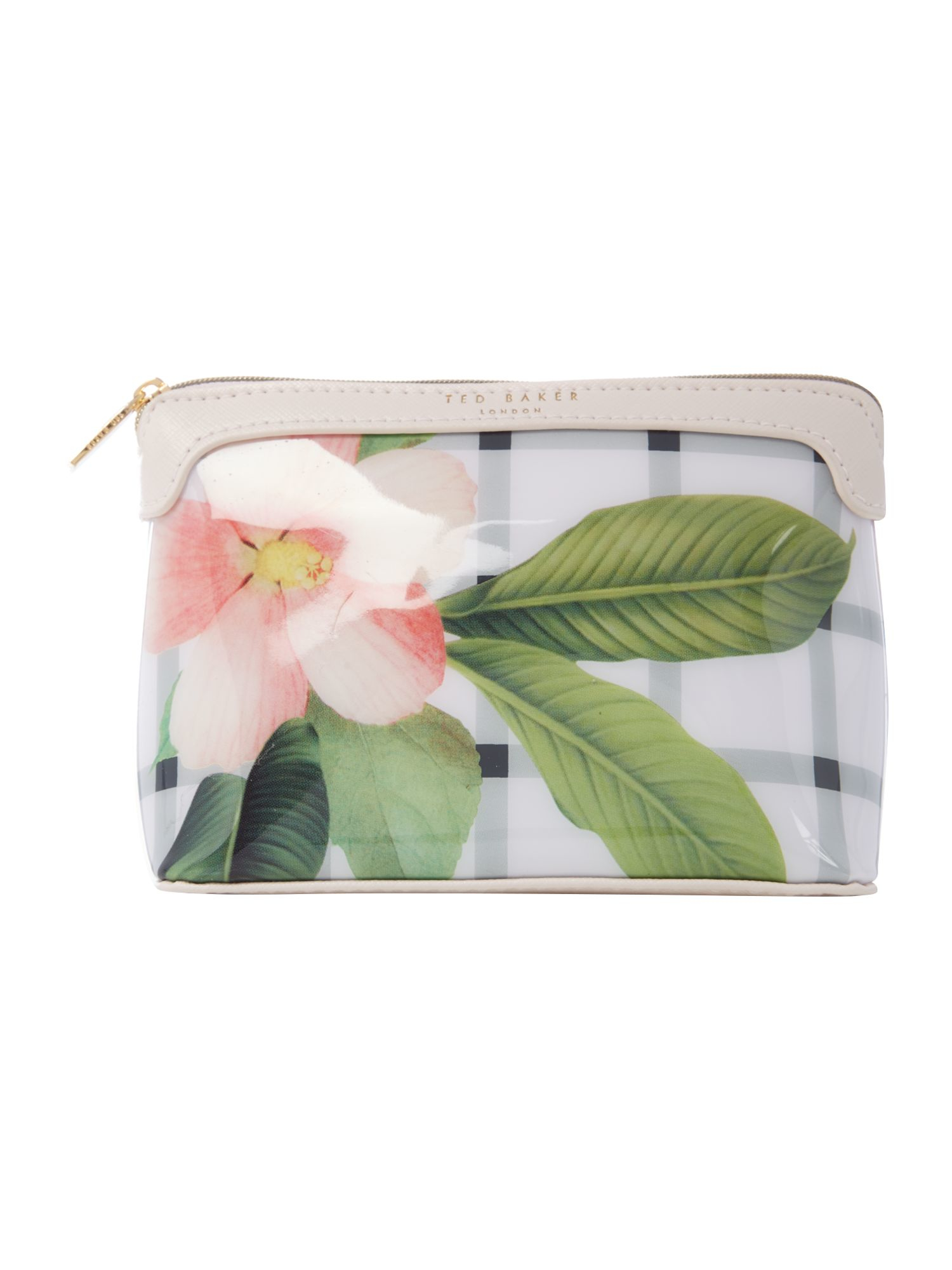 Ted Baker Amalfa White Floral Small Bow Cosmetic Bag In