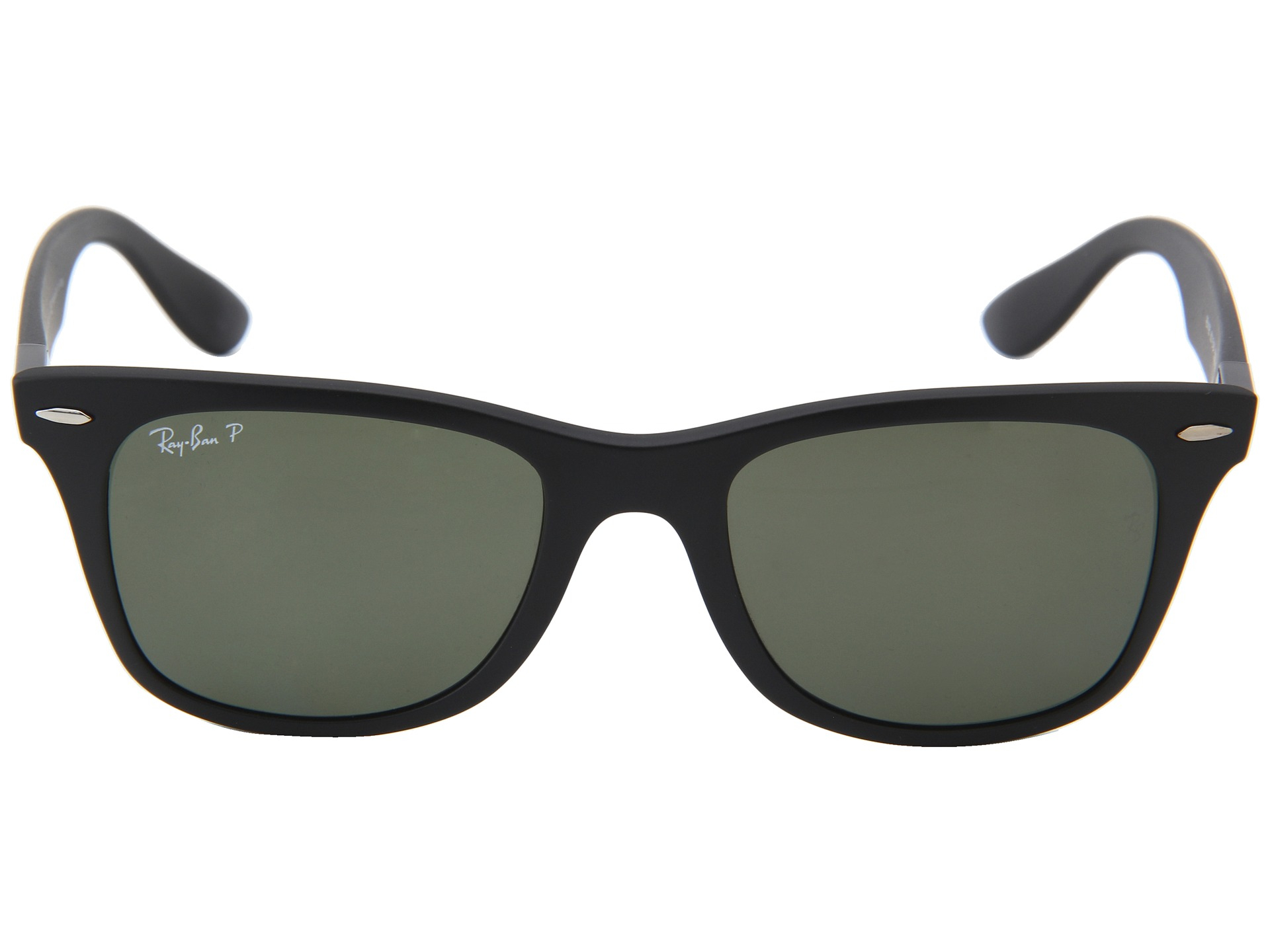 4ef50cabd8528 ... new style ray ban black rb4195 wayfarer liteforce polarized 52mm for  men lyst b7f94 1466e