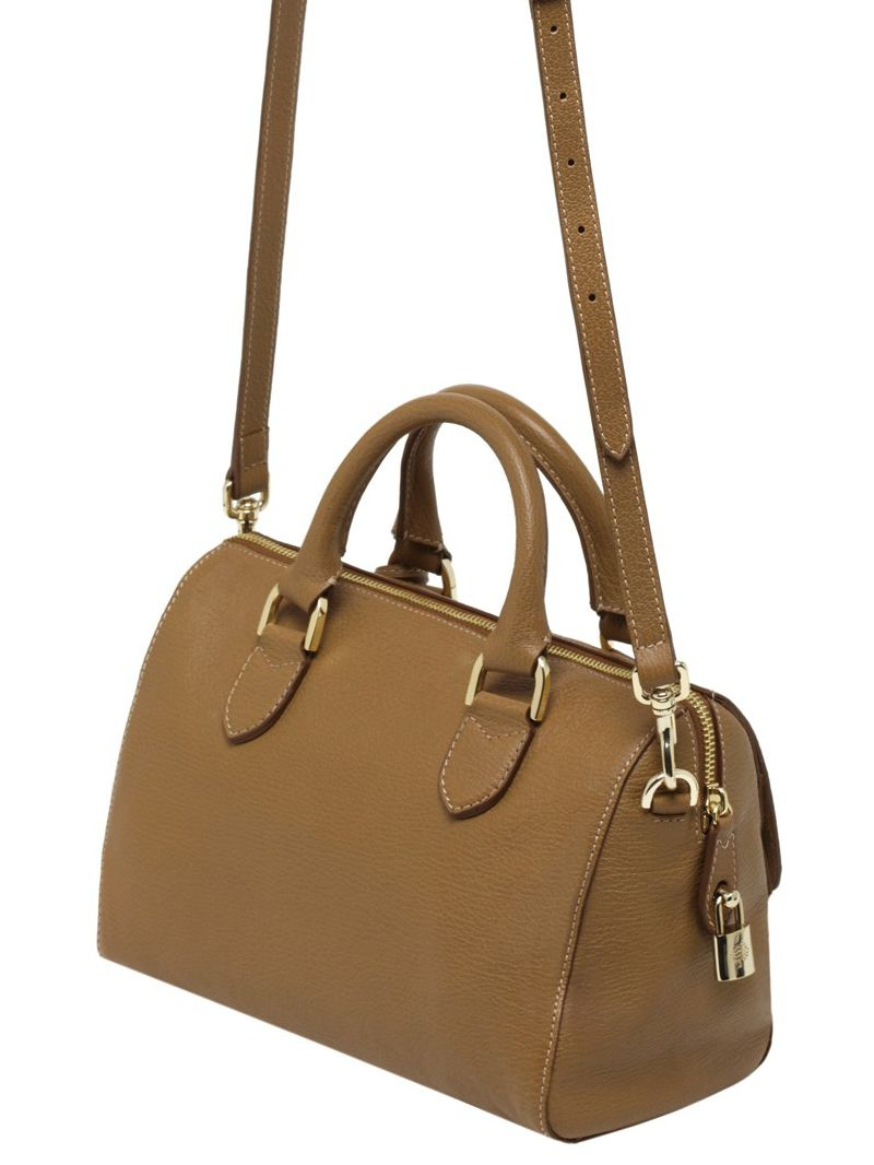 ... get lyst mulberry small del rey glossy leather bag in brown 7e94d b42c4 10bdb0095f0fe