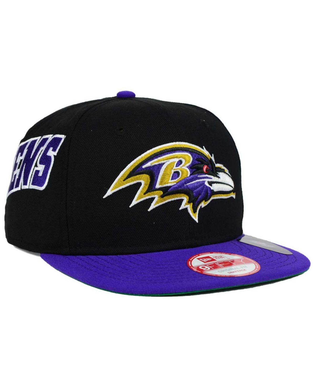Lyst - Ktz Baltimore Ravens Swerve 9fifty Snapback Cap in Black for Men 0aab9a7c41f1
