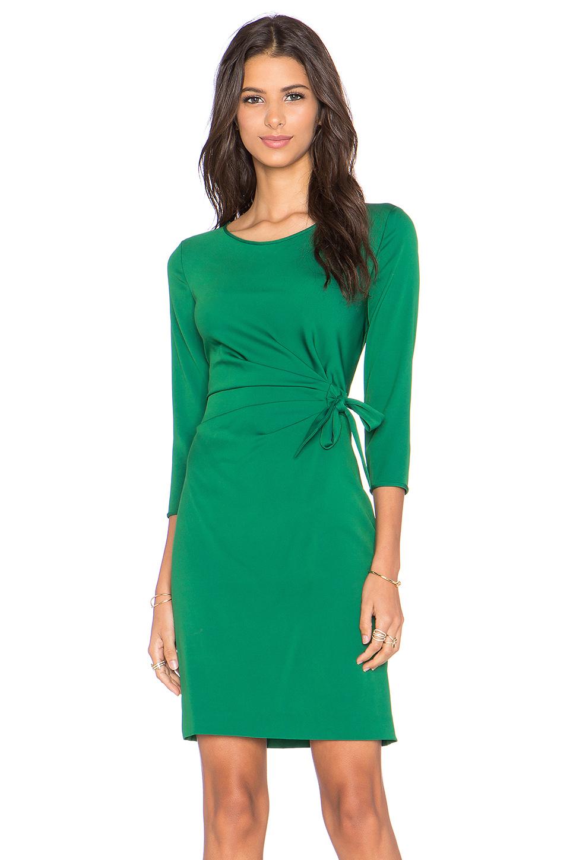 Lyst diane von furstenberg zoe dress in green for Diane von furstenberg clothing