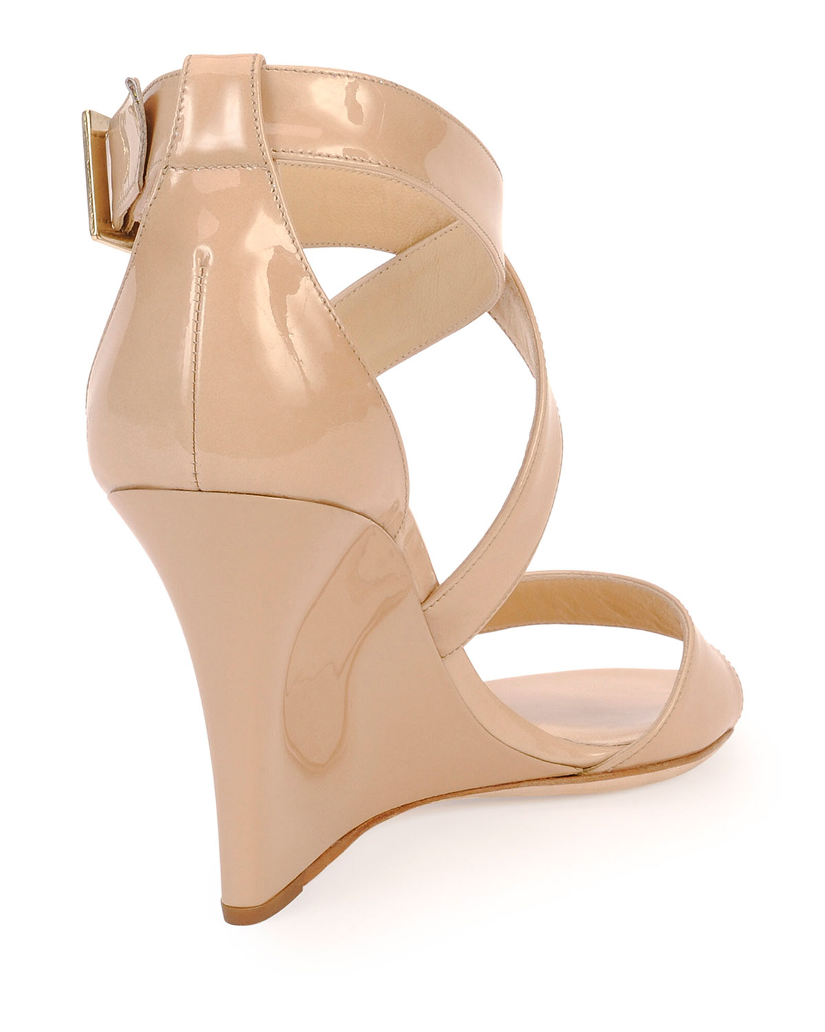 5b75baa0a14 Lyst - Jimmy Choo Fearne Criss-Cross Wedge Sandals in Natural