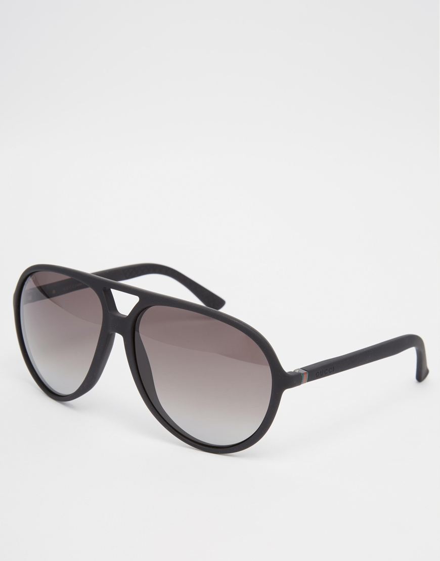Gucci Aviator Sunglasses in Black for Men | Lyst