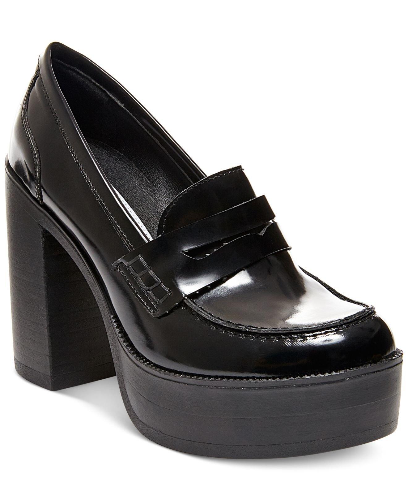 Lyst - Steve Madden Women's Juniper Platform Penny Loafers ...