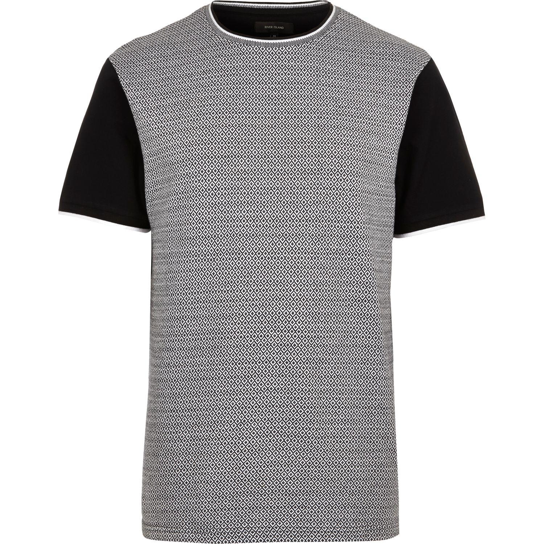 Lyst river island black diamond short sleeve t shirt in for Bear river workwear shirts