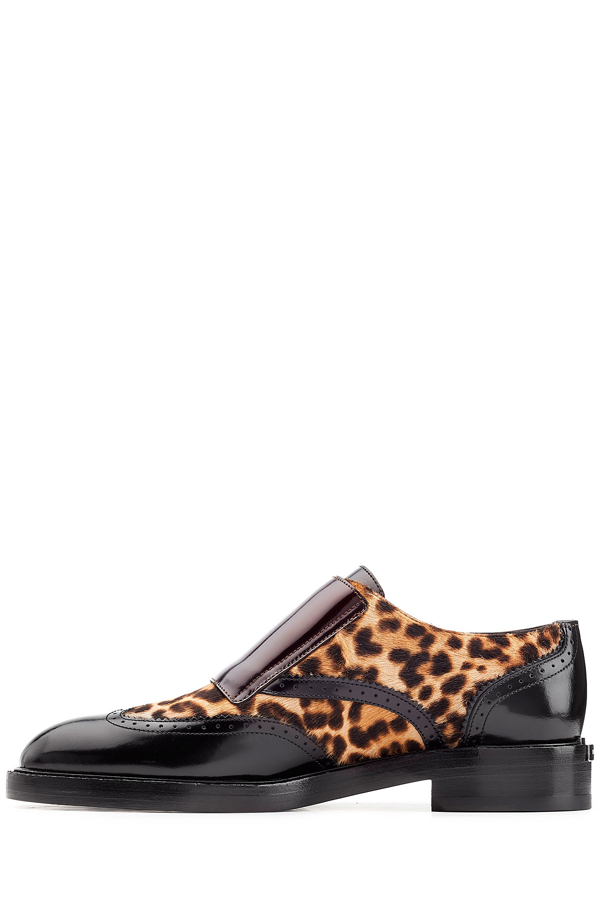 c60b1a0f66b Burberry Leather Loafers With Leopard Printed Calf Hair - Animal ...