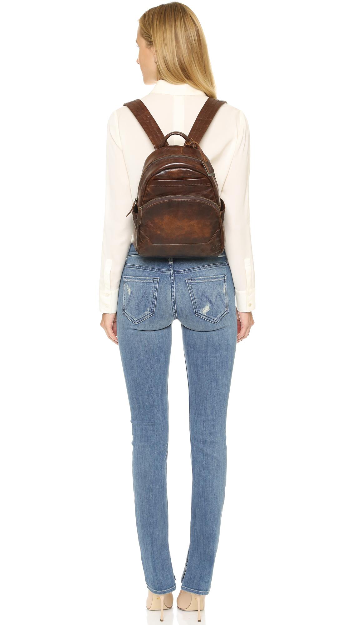 15bc227c4c Lyst - Frye Melissa Backpack - Dark Brown in Brown