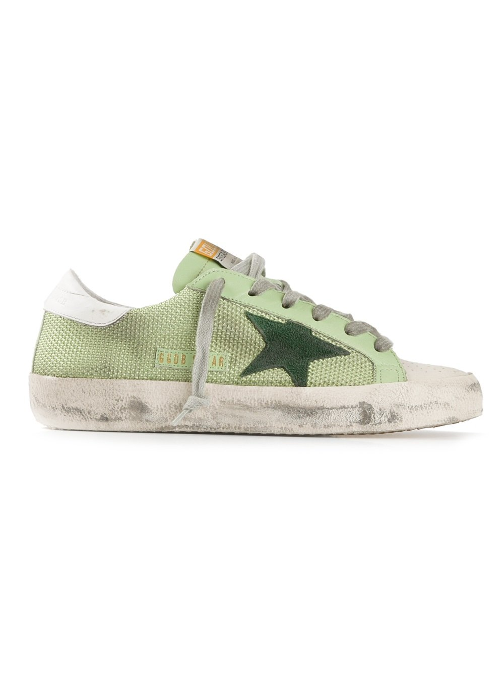 lyst golden goose deluxe brand star sneakers in green. Black Bedroom Furniture Sets. Home Design Ideas
