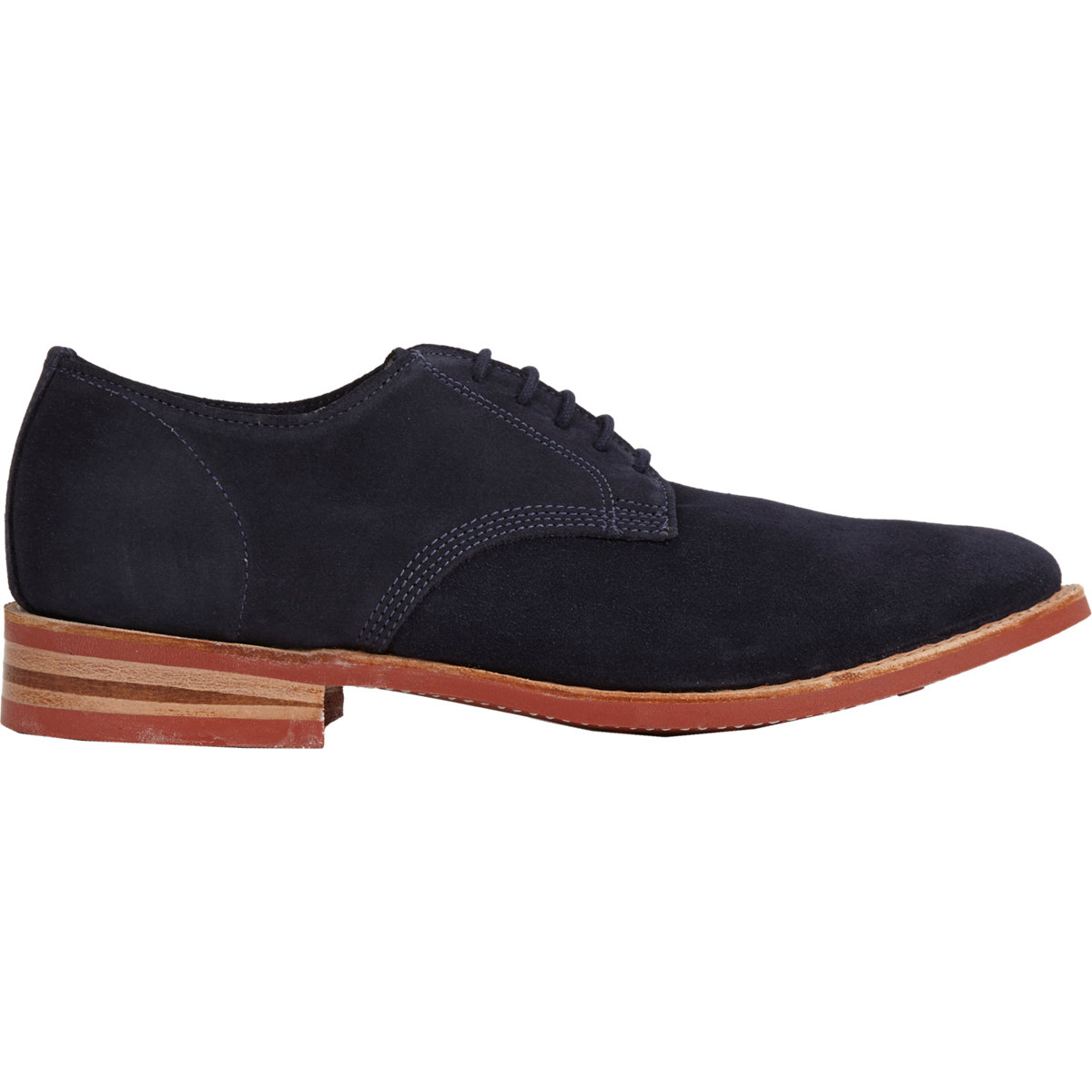 hh brown shoe company wiley bluchers in blue for lyst