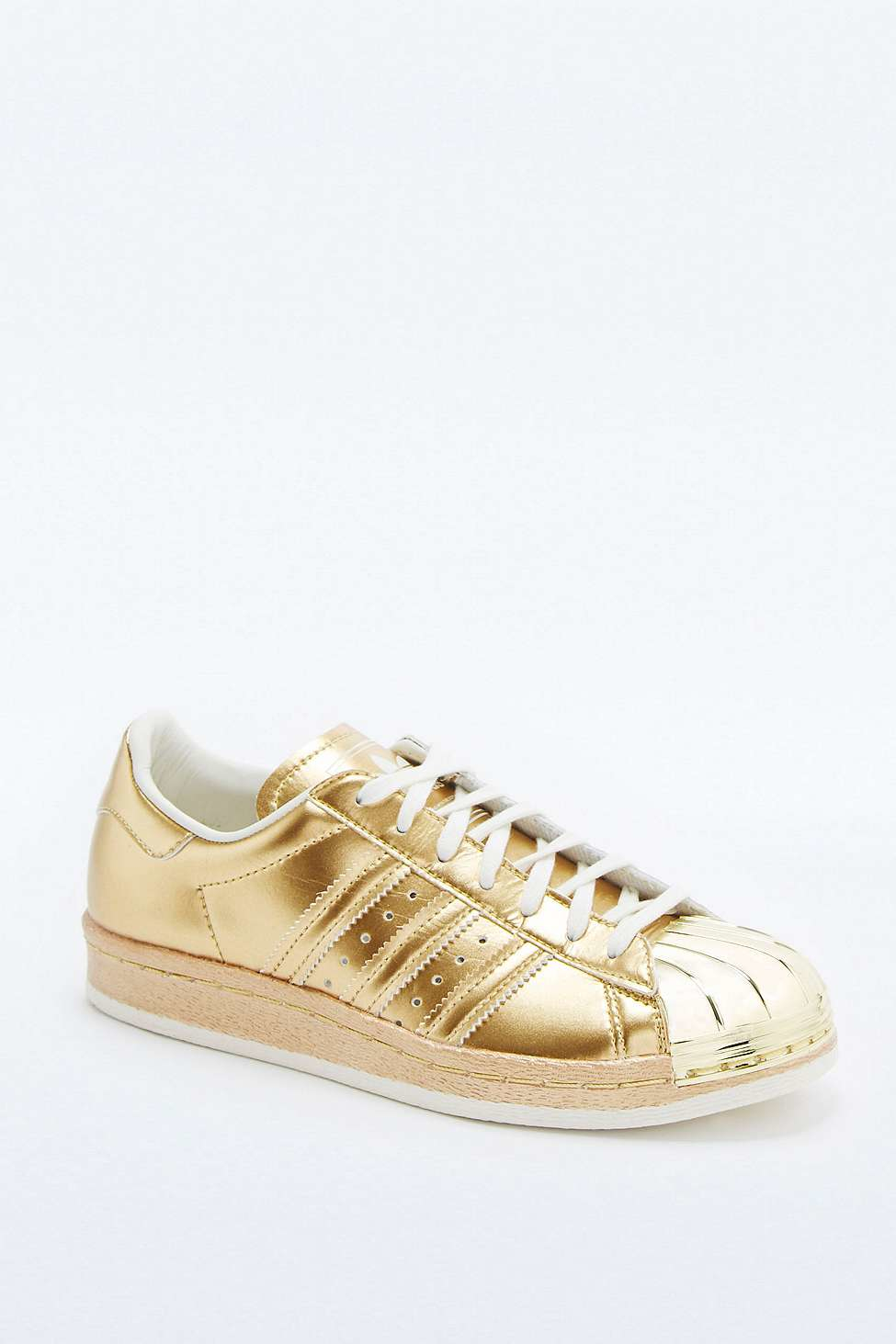 Adidas Originals Superstar 80s Metallic Gold Trainers In Metallic Lyst
