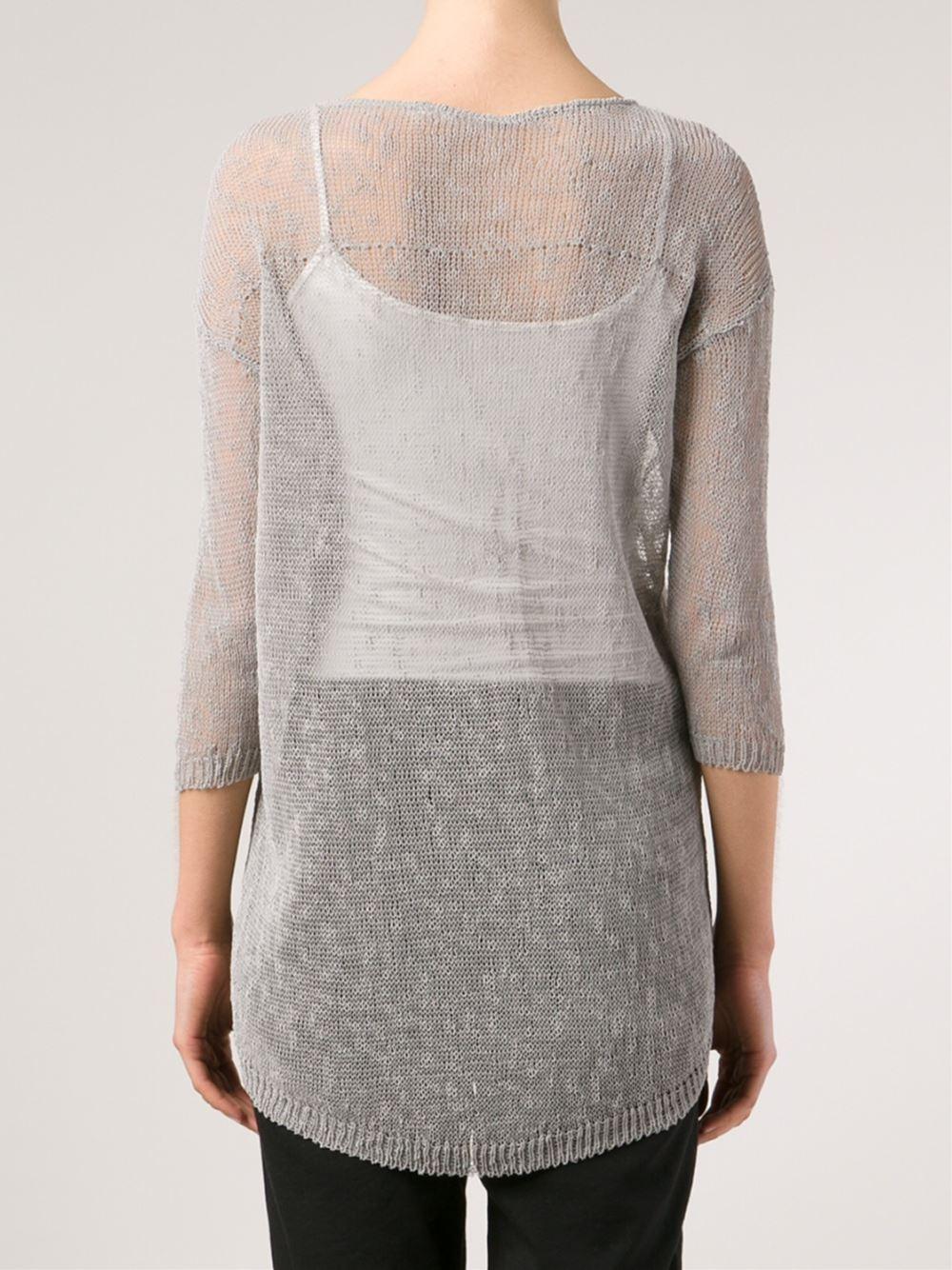 Transit Sheer Sweater in Gray   Lyst
