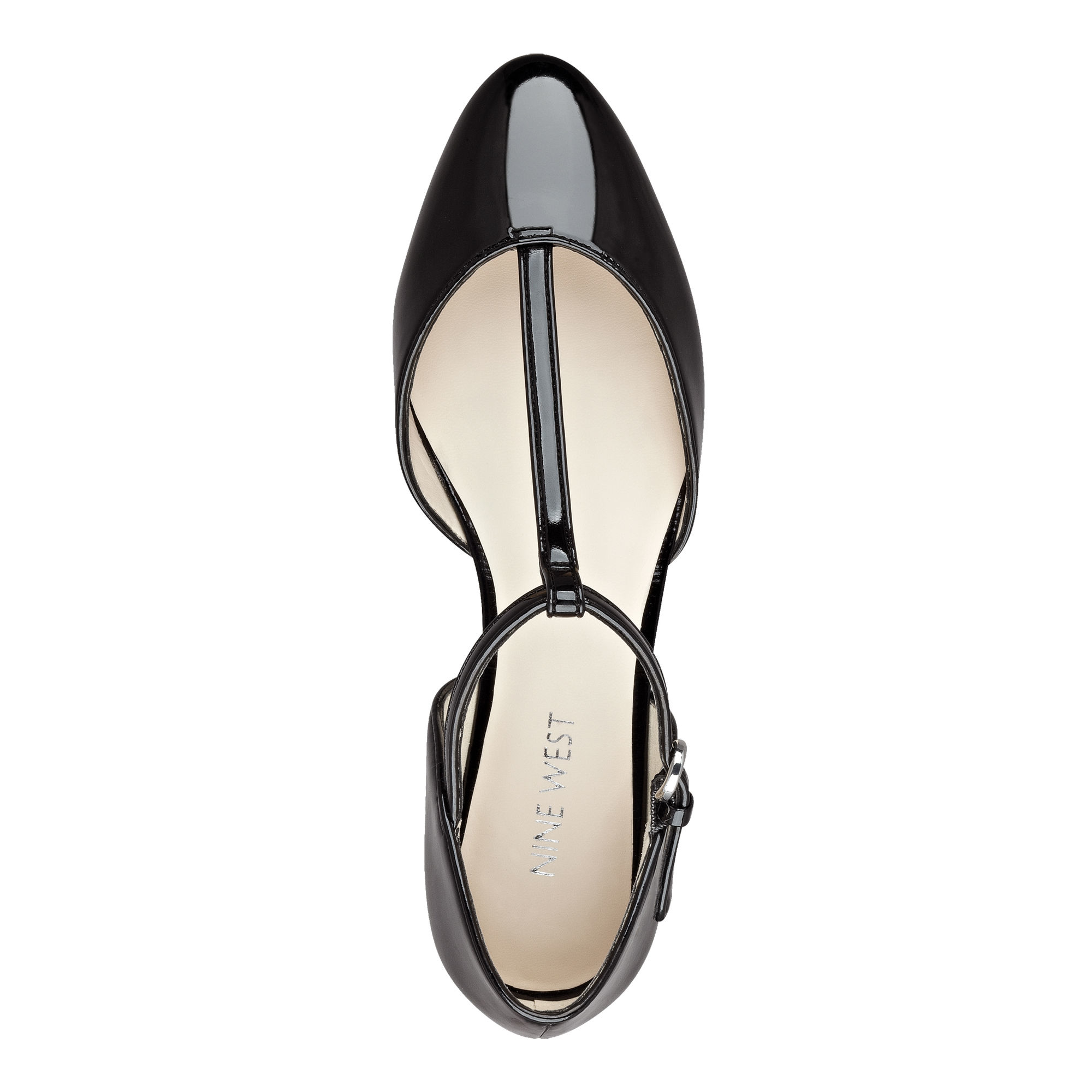 e73309c1243ab5 Lyst - Nine West Zenda T-strap Flats in Black