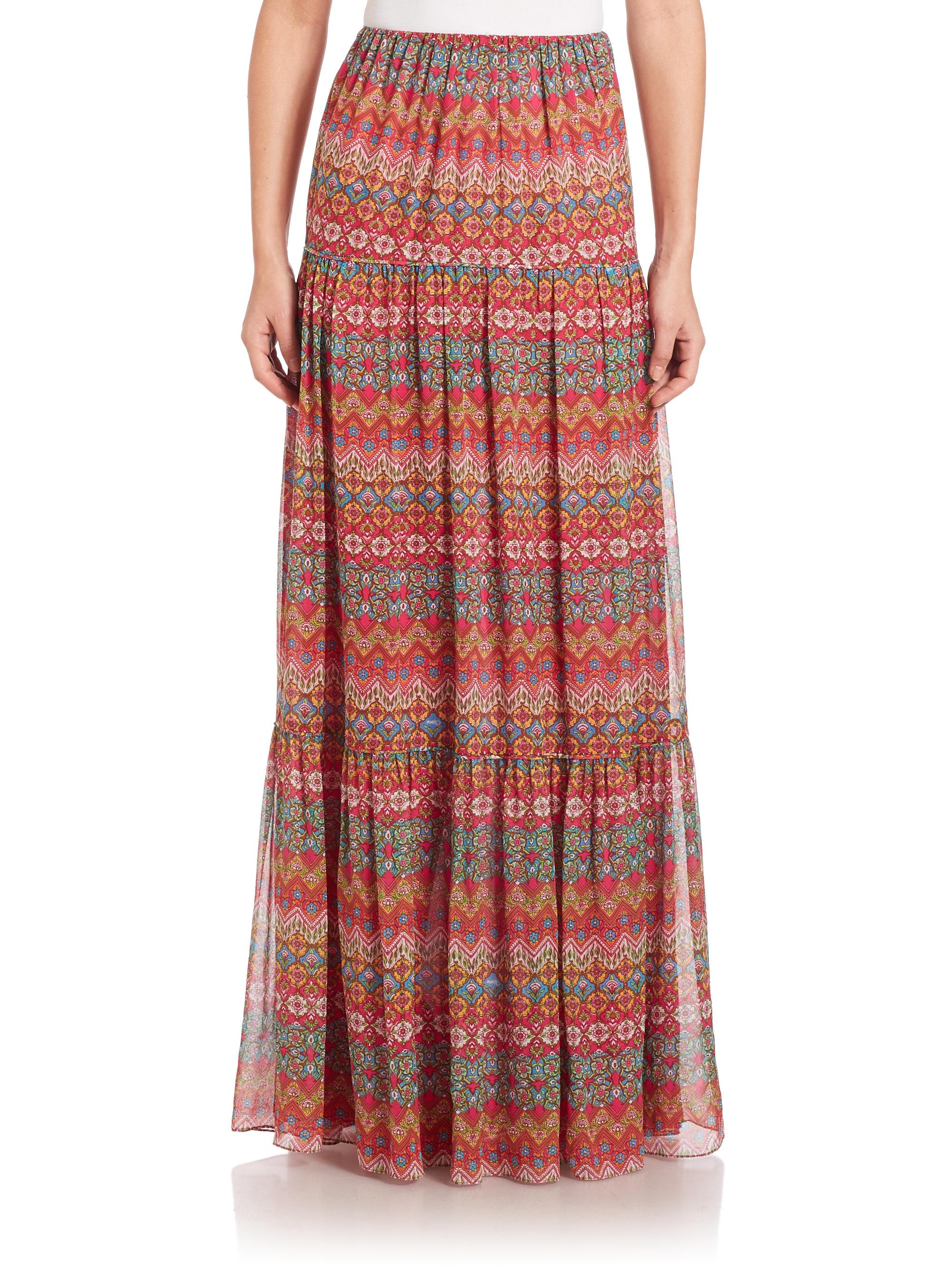 94e40e89caacb Diane von Furstenberg Baylee Maxi Skirt - Lyst