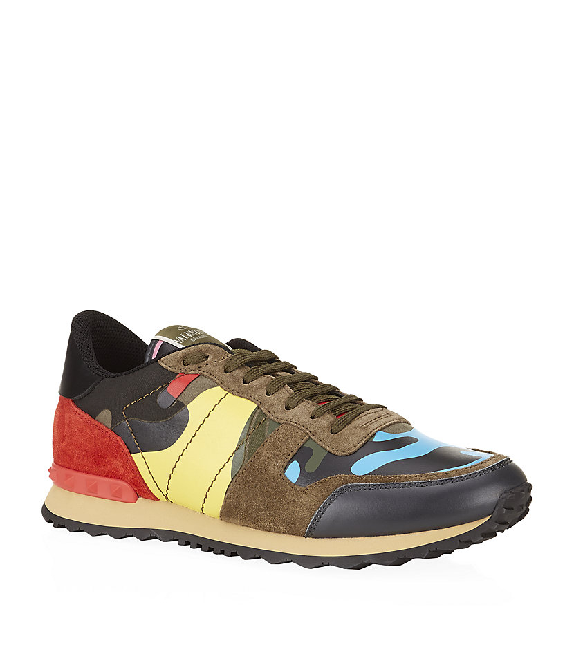 1e64ace2035 Valentino Studded Psycho Camo Trainer in Green for Men - Lyst