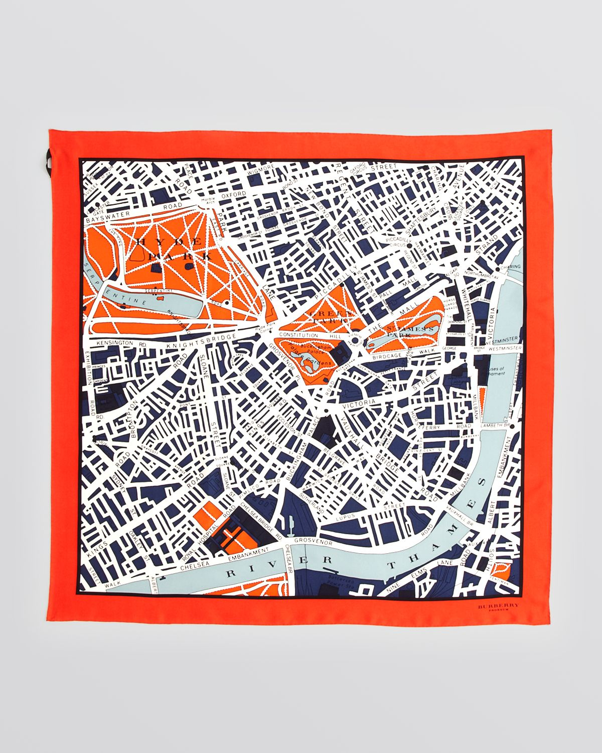 Lyst burberry prorsum london map silk square scarf in red gallery gumiabroncs Image collections