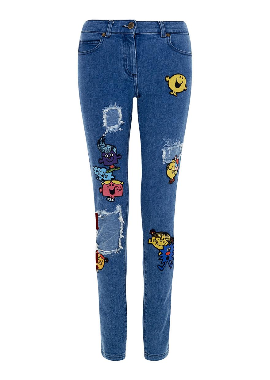 House Of Holland Mr Men Skinny Jeans In Blue Denim Lyst