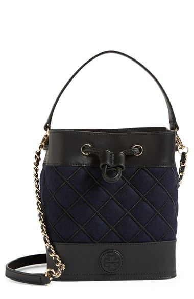 Lyst Tory Burch Mini Marion Quilted Leather Bucket Bag