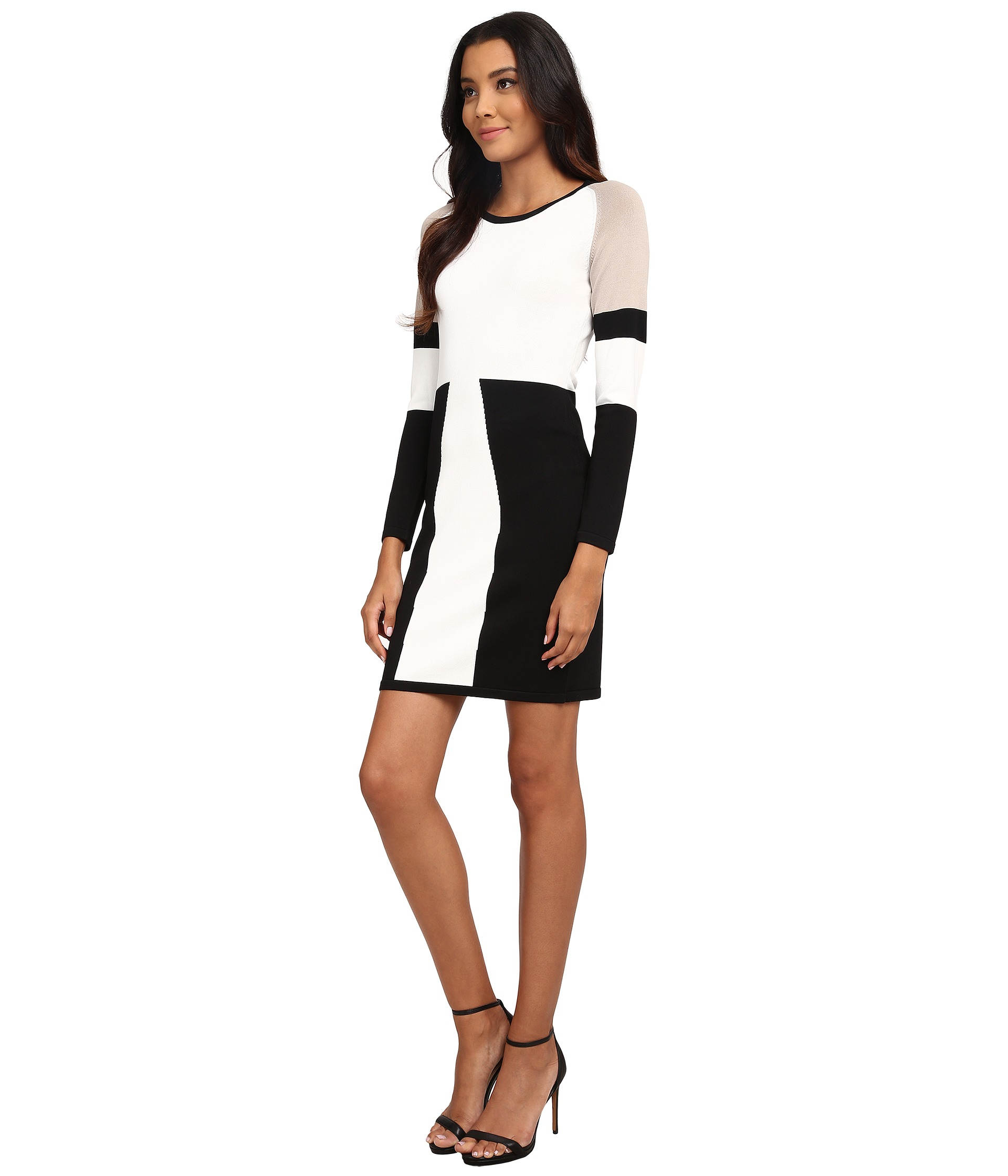 Lyst Dress In Klein Sweater Natural Color Calvin Block Xwwpqrxb