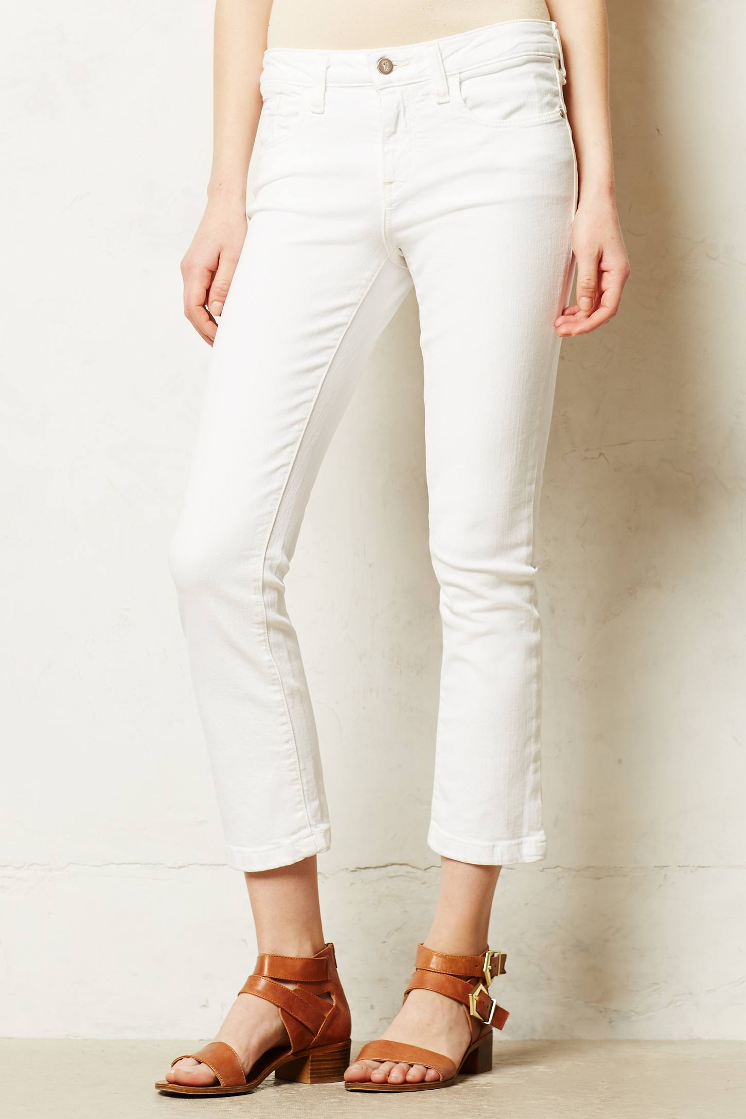 Pilcro Stet Cropped Jeans in White | Lyst