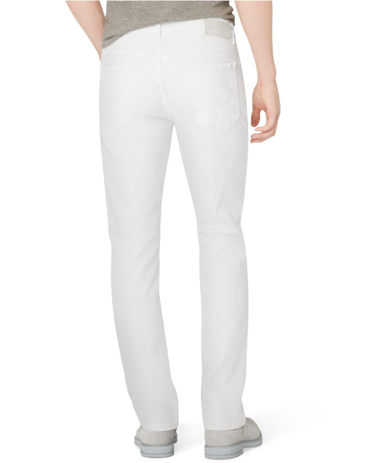 cd953f56f3c Lyst - Calvin Klein Slim-straight Fit Jeans in White for Men