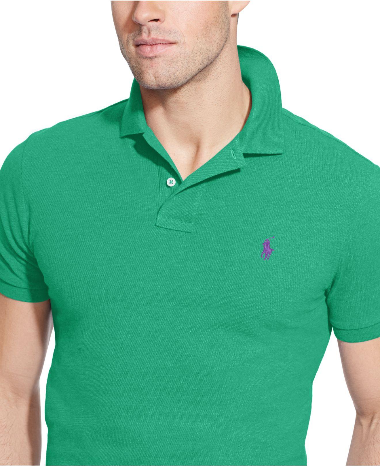 Polo Ralph Lauren Mens Custom Fit Interlock Polo Shirt Bcd Tofu House