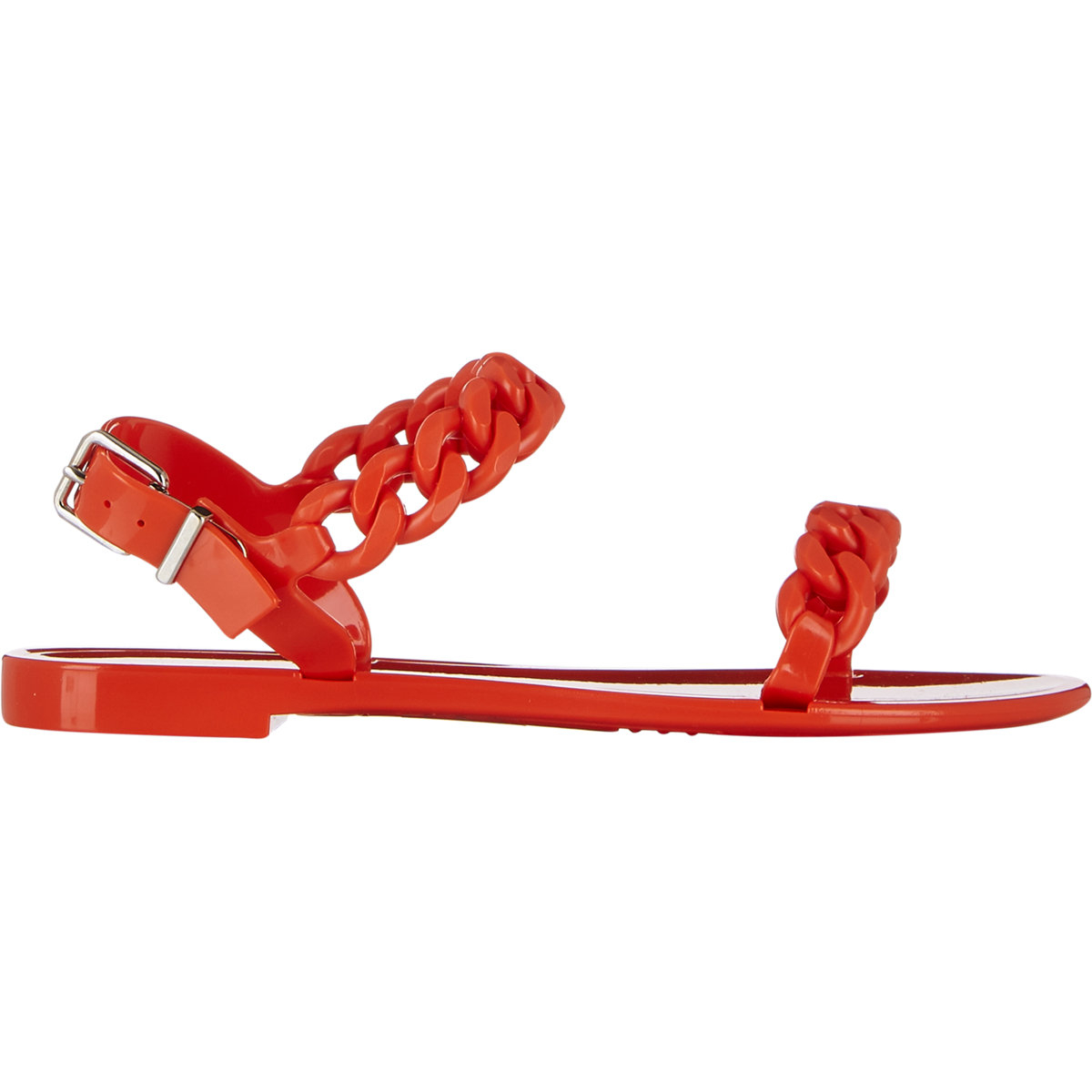 c11523f2fe5b Lyst - Givenchy Women s Chain-link Jelly Sandals in Orange