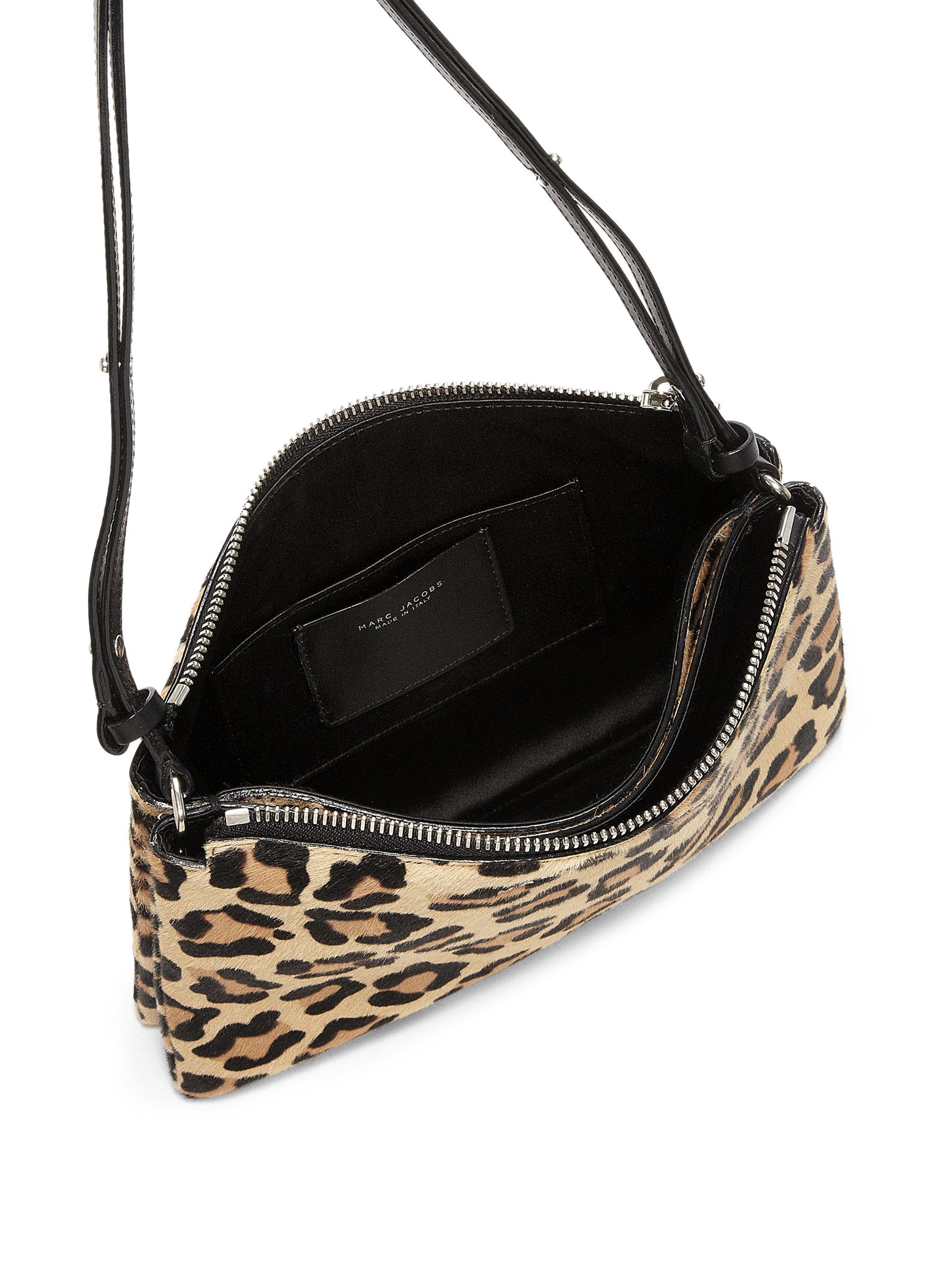 Lyst - Marc Jacobs Double-pouch Leopard-print Calf Hair Crossbody Bag 419a4868de725